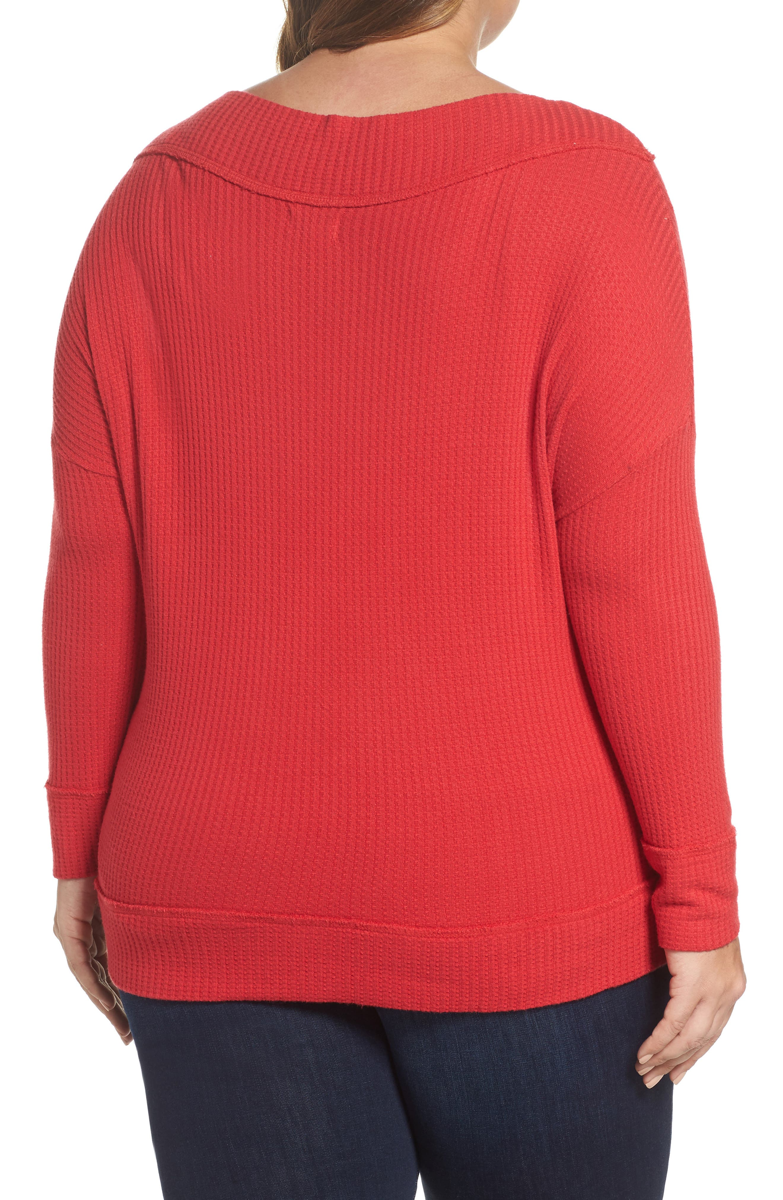 Waffle Thermal Top,                             Alternate thumbnail 4, color,
