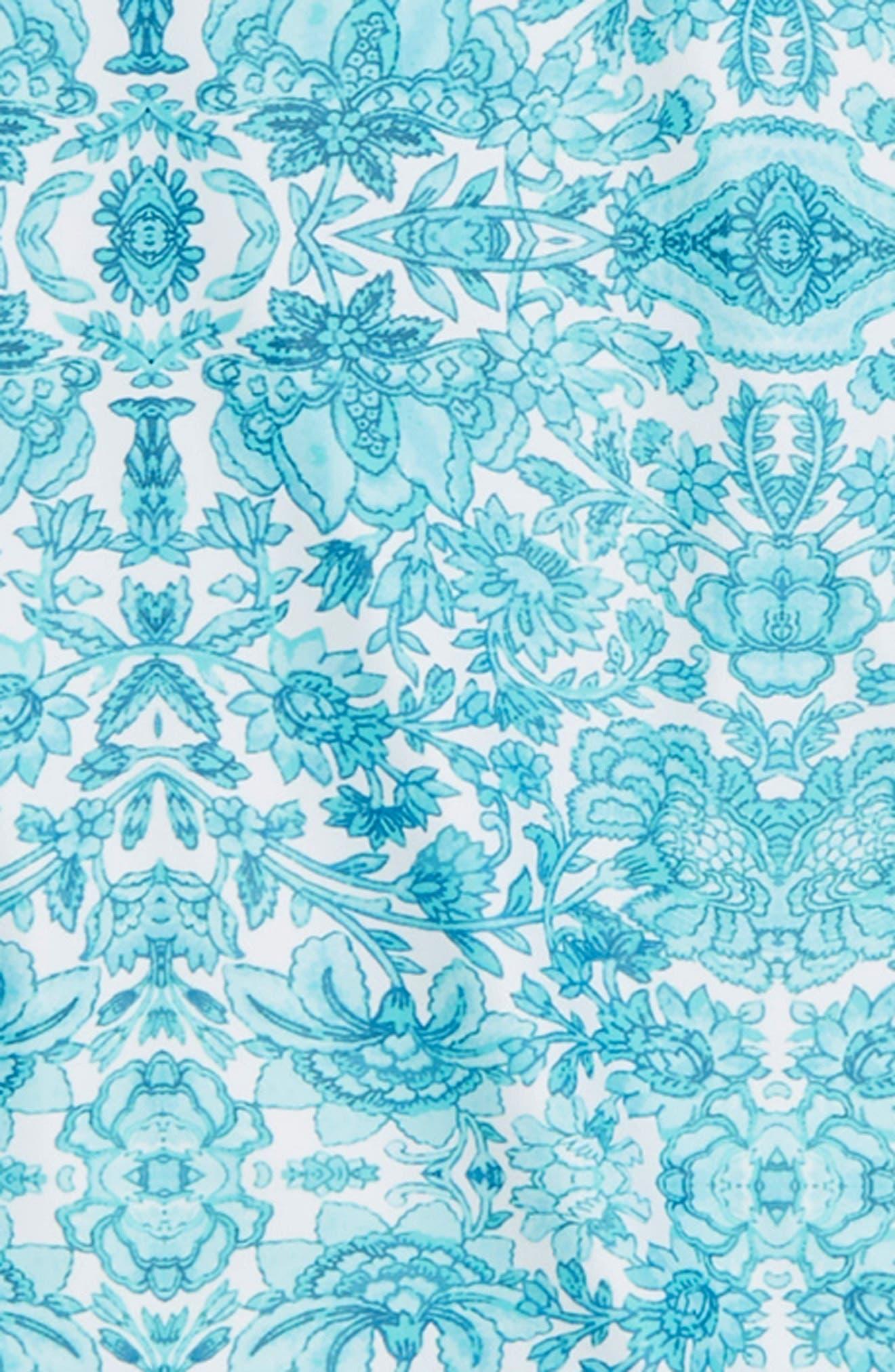 Ocean Tapestry Two-Piece Rashguard Swimsuit,                             Alternate thumbnail 2, color,                             400