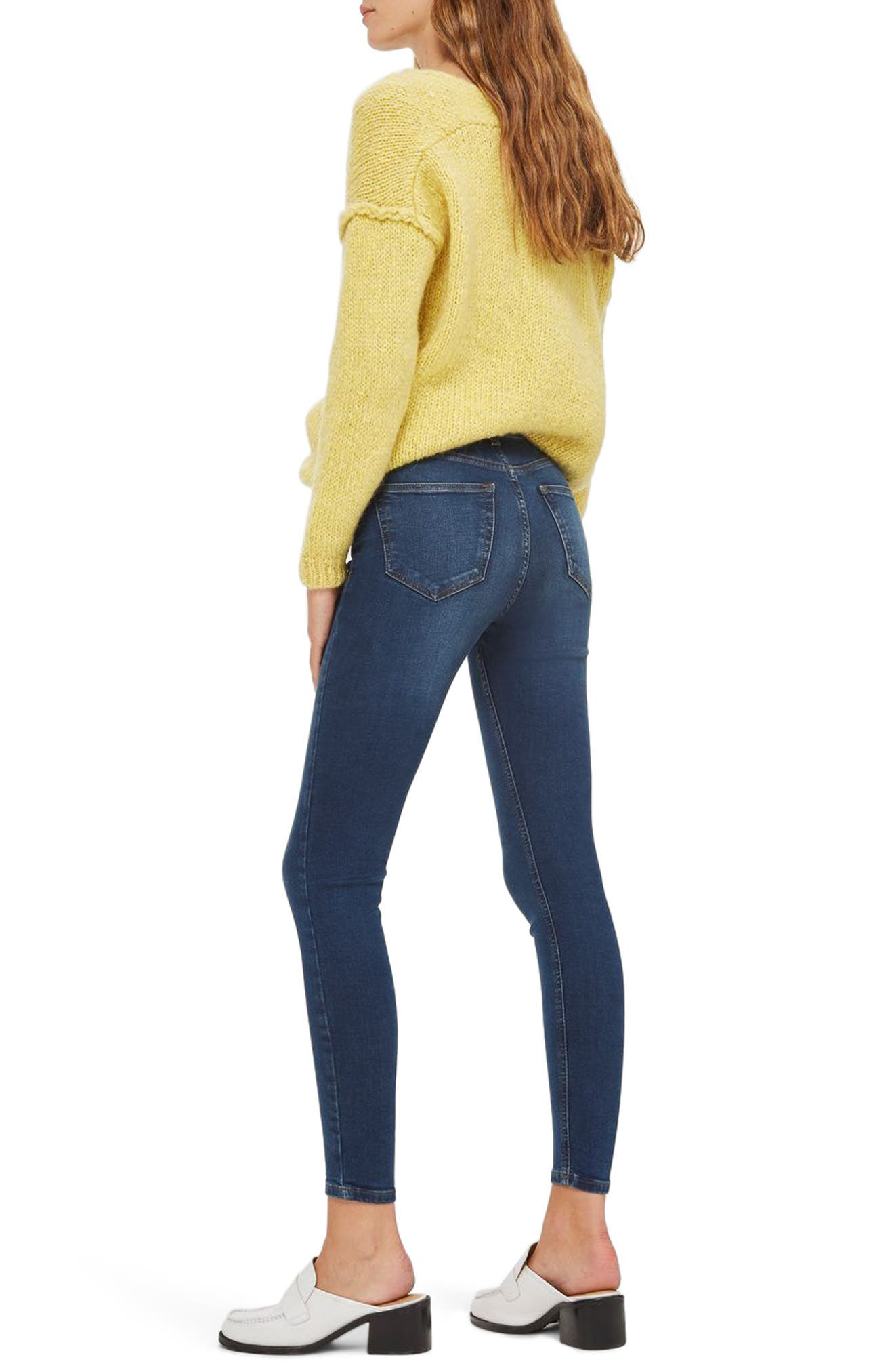 Jamie High Rise Ankle Skinny Jeans,                             Alternate thumbnail 2, color,