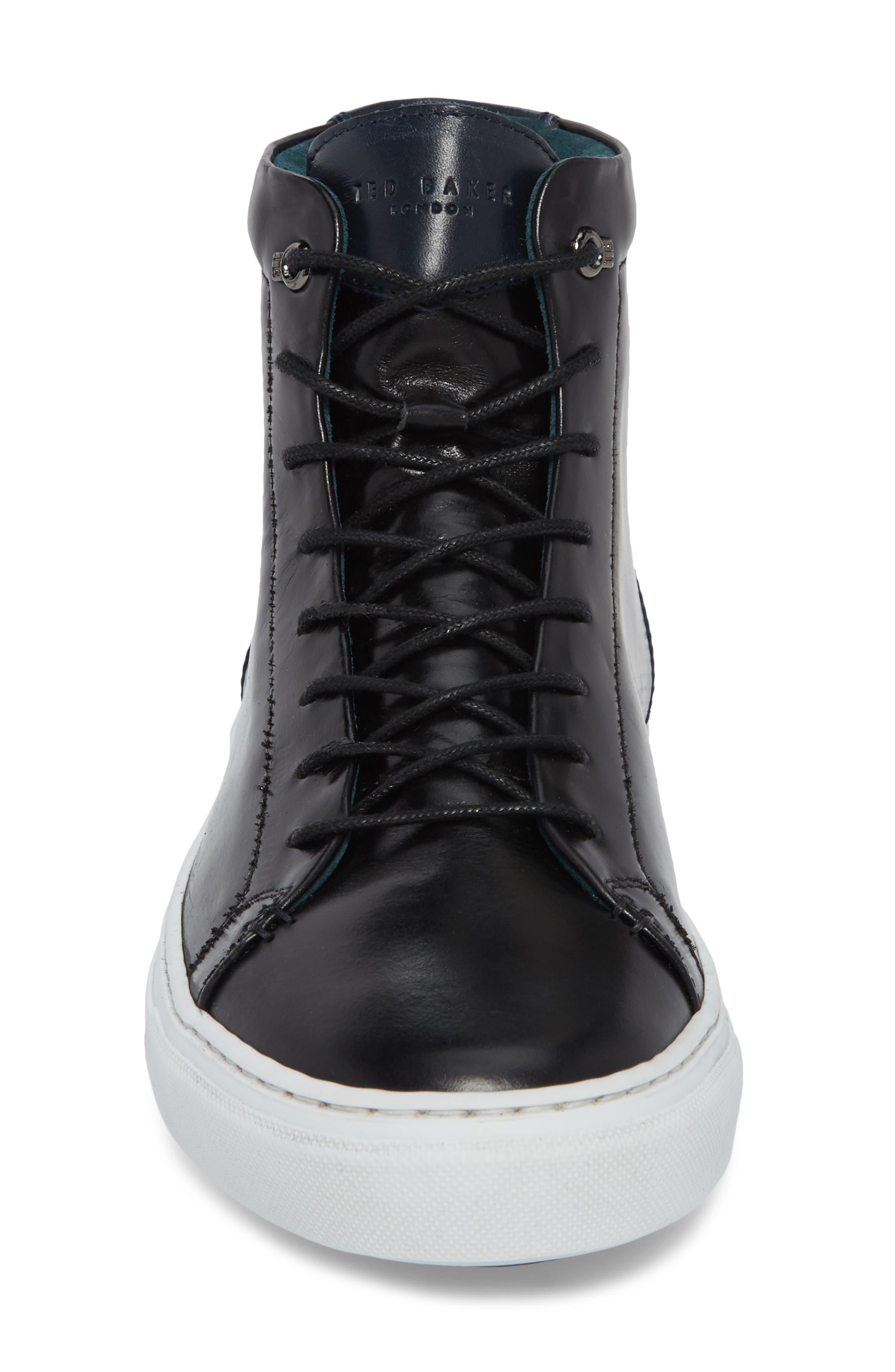 Monerkk High Top Sneaker,                             Alternate thumbnail 4, color,                             001