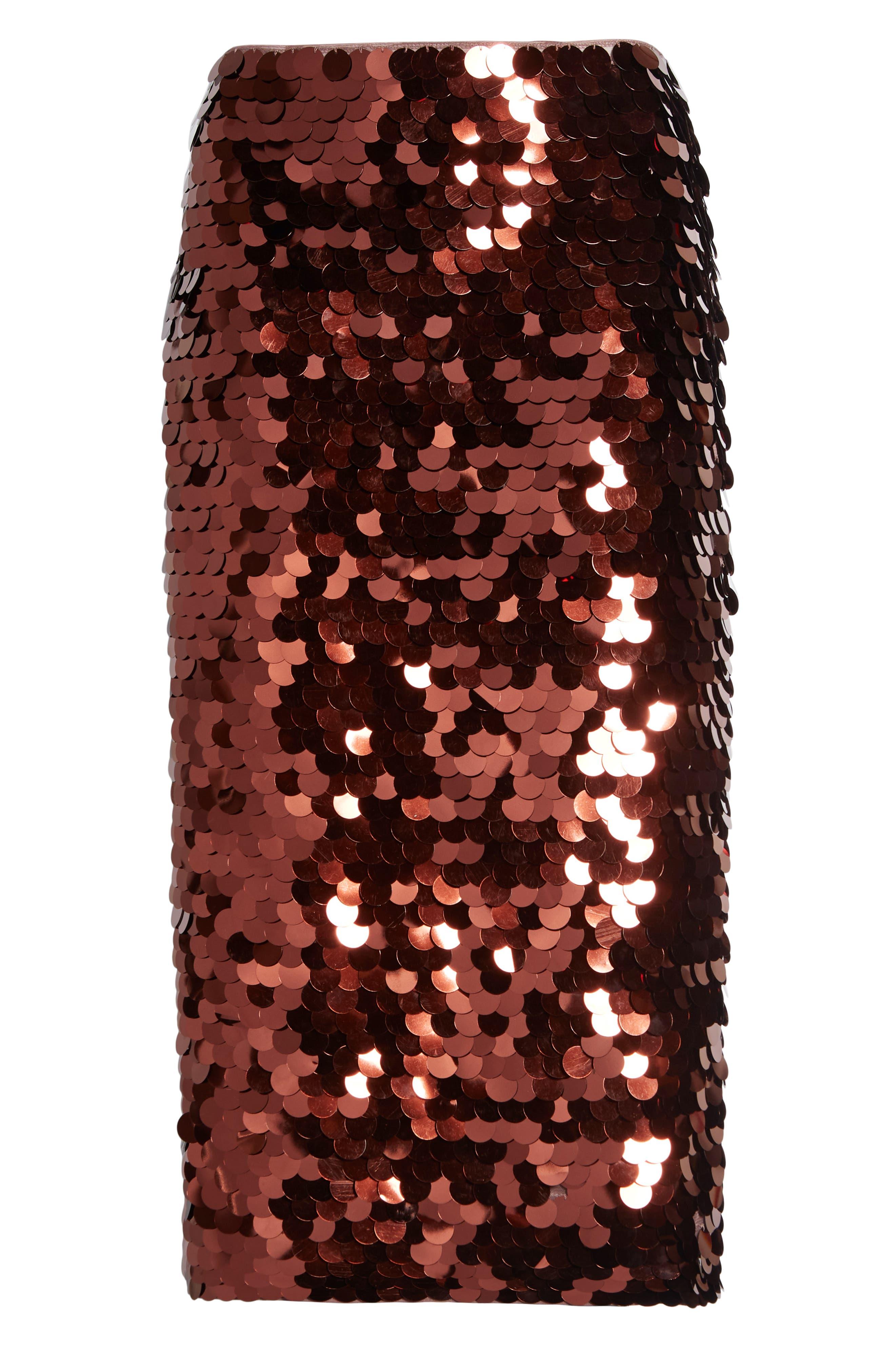Paillette Pencil Skirt,                             Alternate thumbnail 6, color,                             510