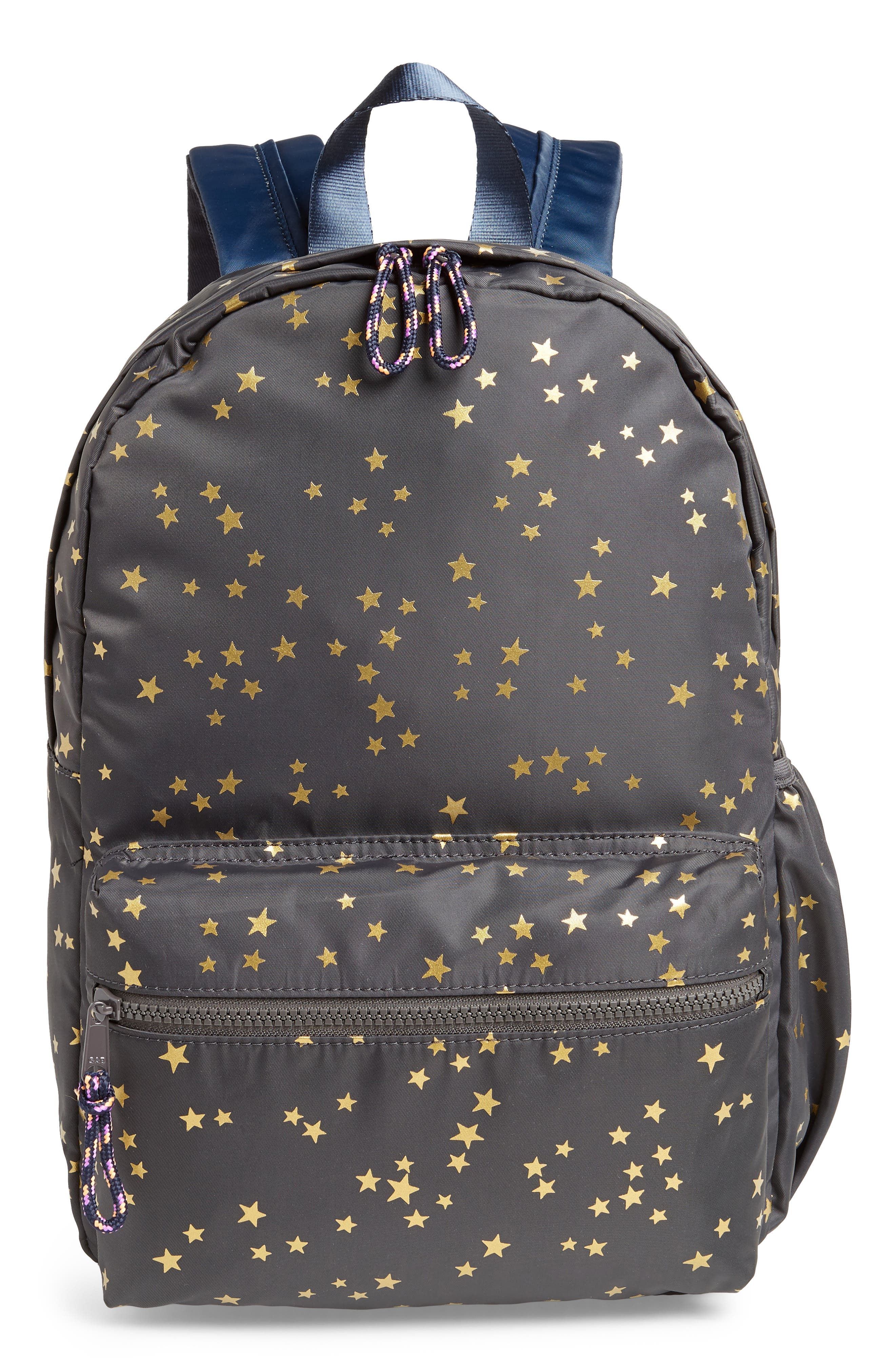 Gold Star Backpack,                         Main,                         color, SOFT CHARCOAL