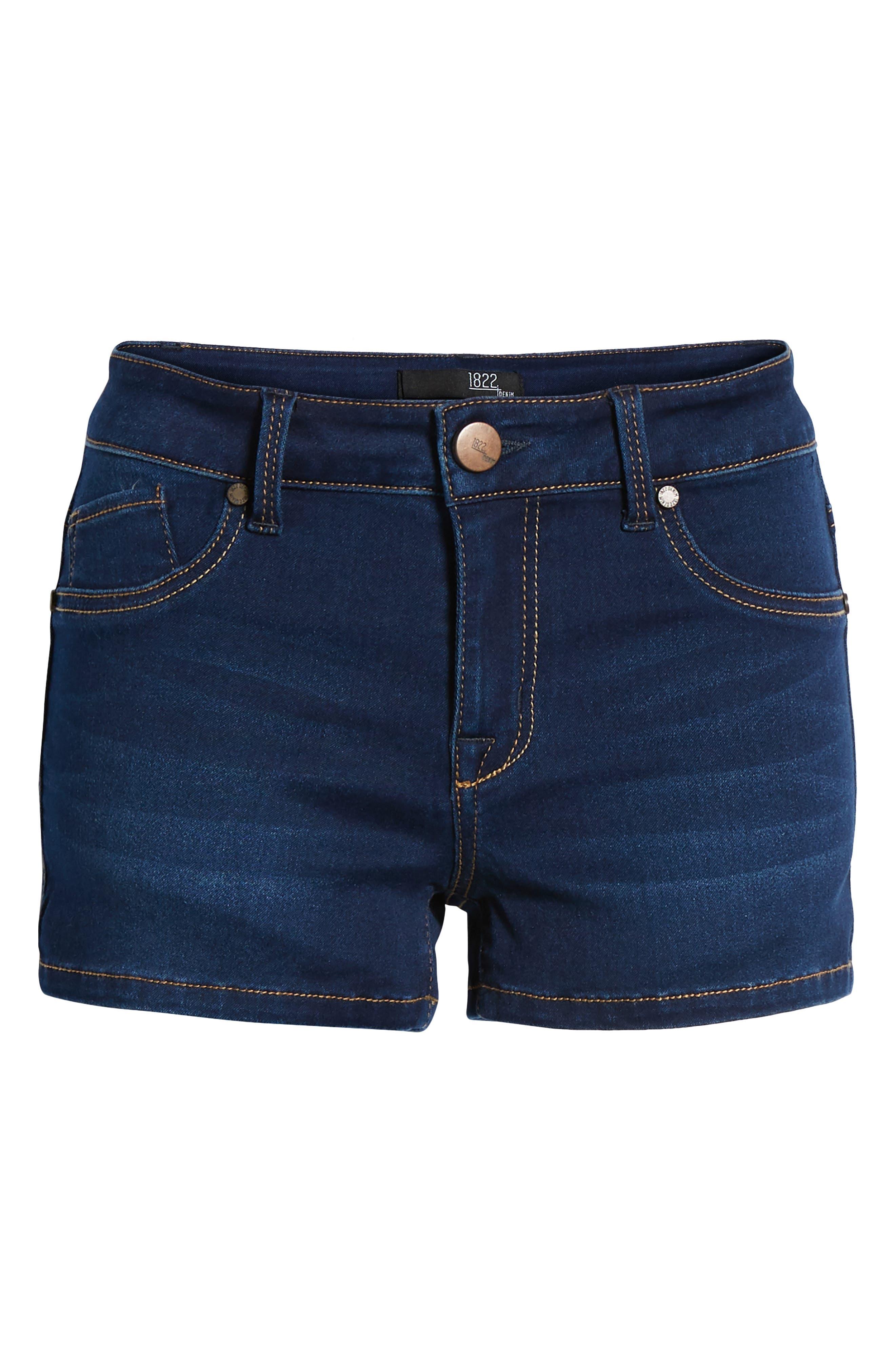 Butter Denim Shorts,                             Alternate thumbnail 7, color,                             LENNOX