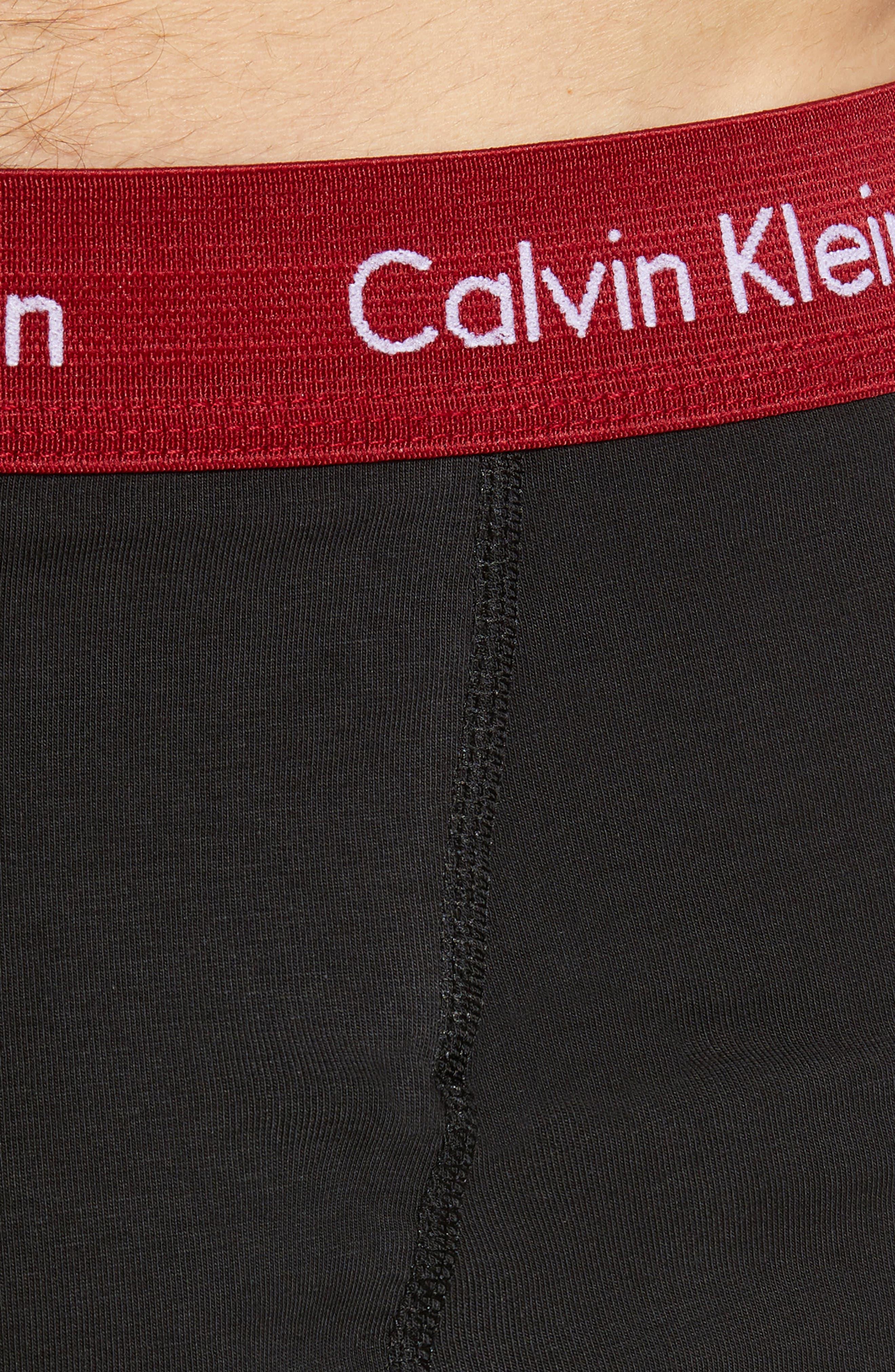 4-Pack Cotton Blend Boxer Briefs,                             Alternate thumbnail 5, color,                             BLACK/ RED MULTI/ GREY SKY