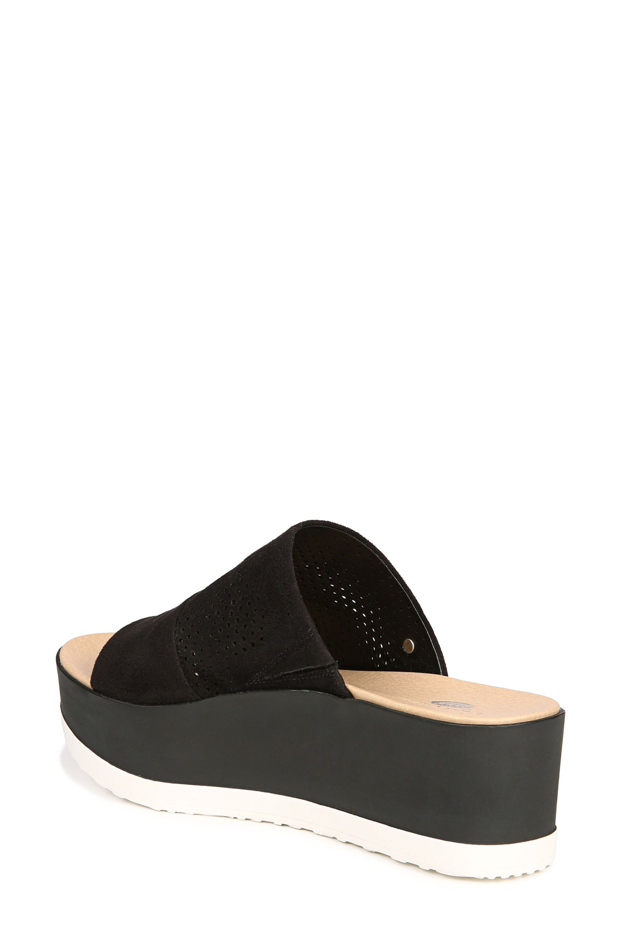 Collins Platform Sandal,                             Alternate thumbnail 2, color,                             BLACK FABRIC