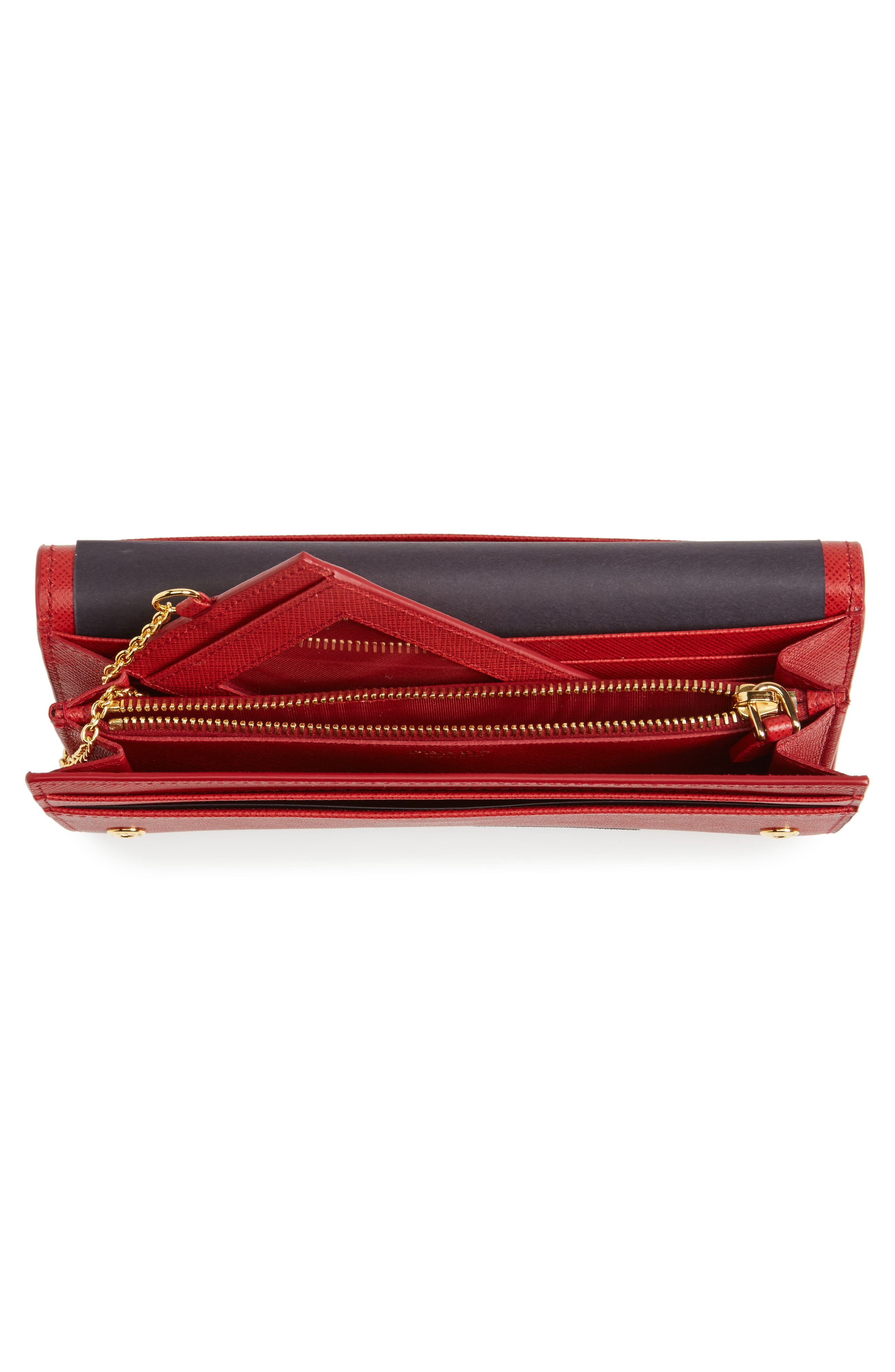 Saffiano Leather Wallet,                             Alternate thumbnail 8, color,