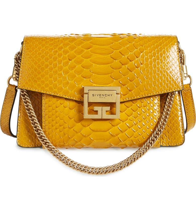 83e2f45817ea Givenchy Small GV3 Genuine Python Shoulder Bag