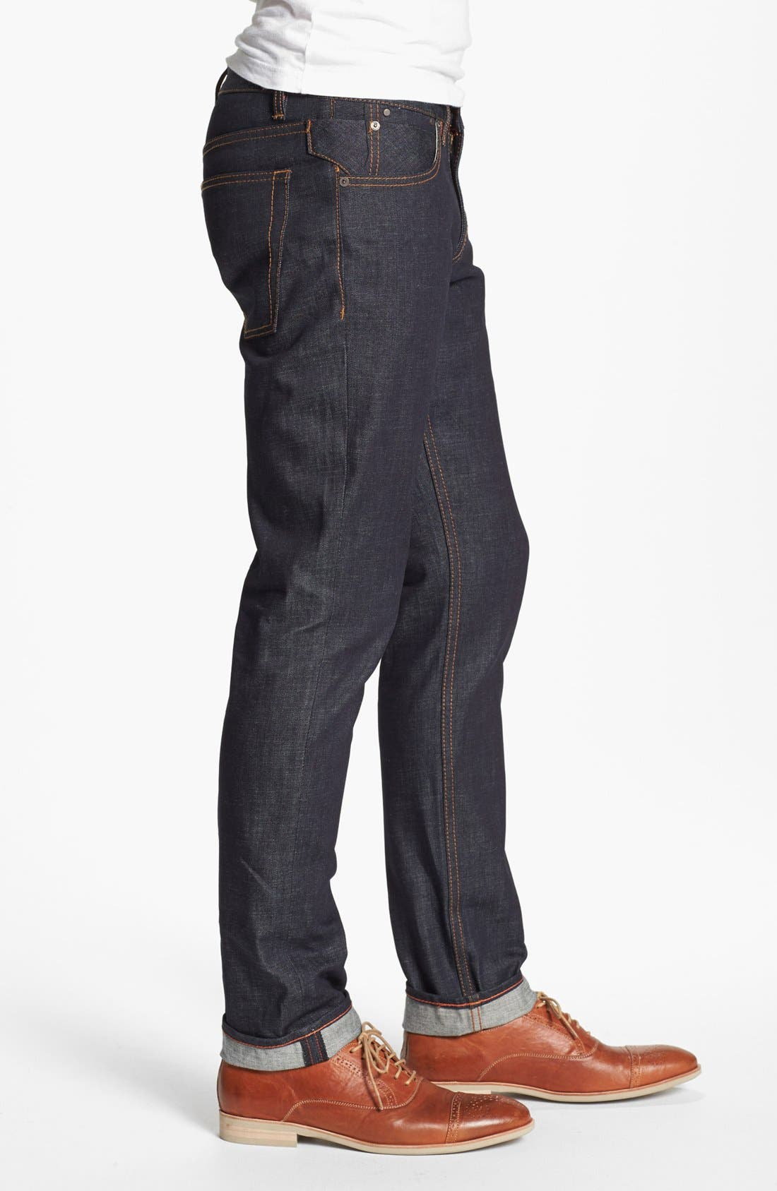 'Grand Street' Slim Fit Jeans,                             Alternate thumbnail 4, color,                             400