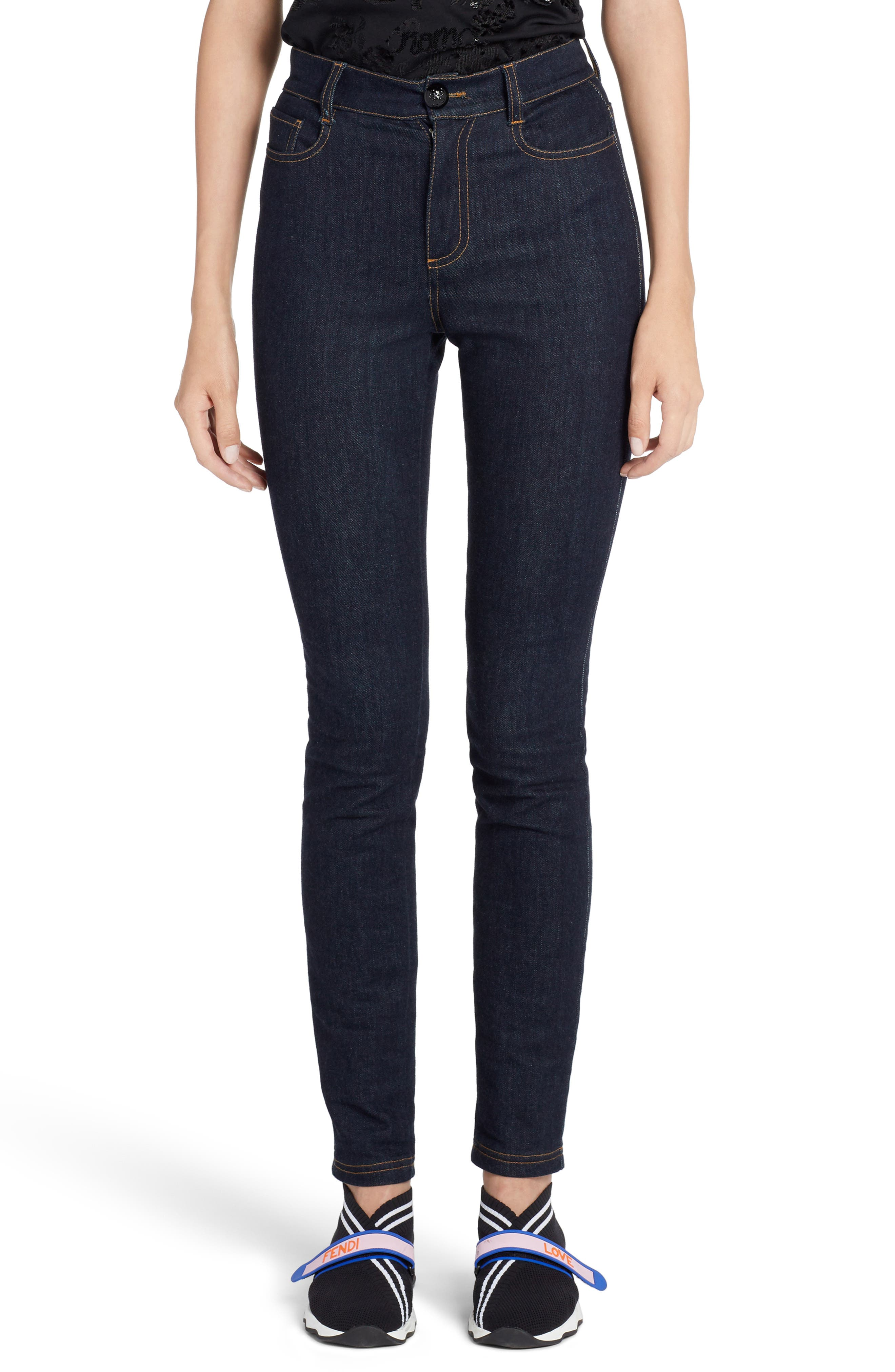 Skinny Jeans,                         Main,                         color, BLUE
