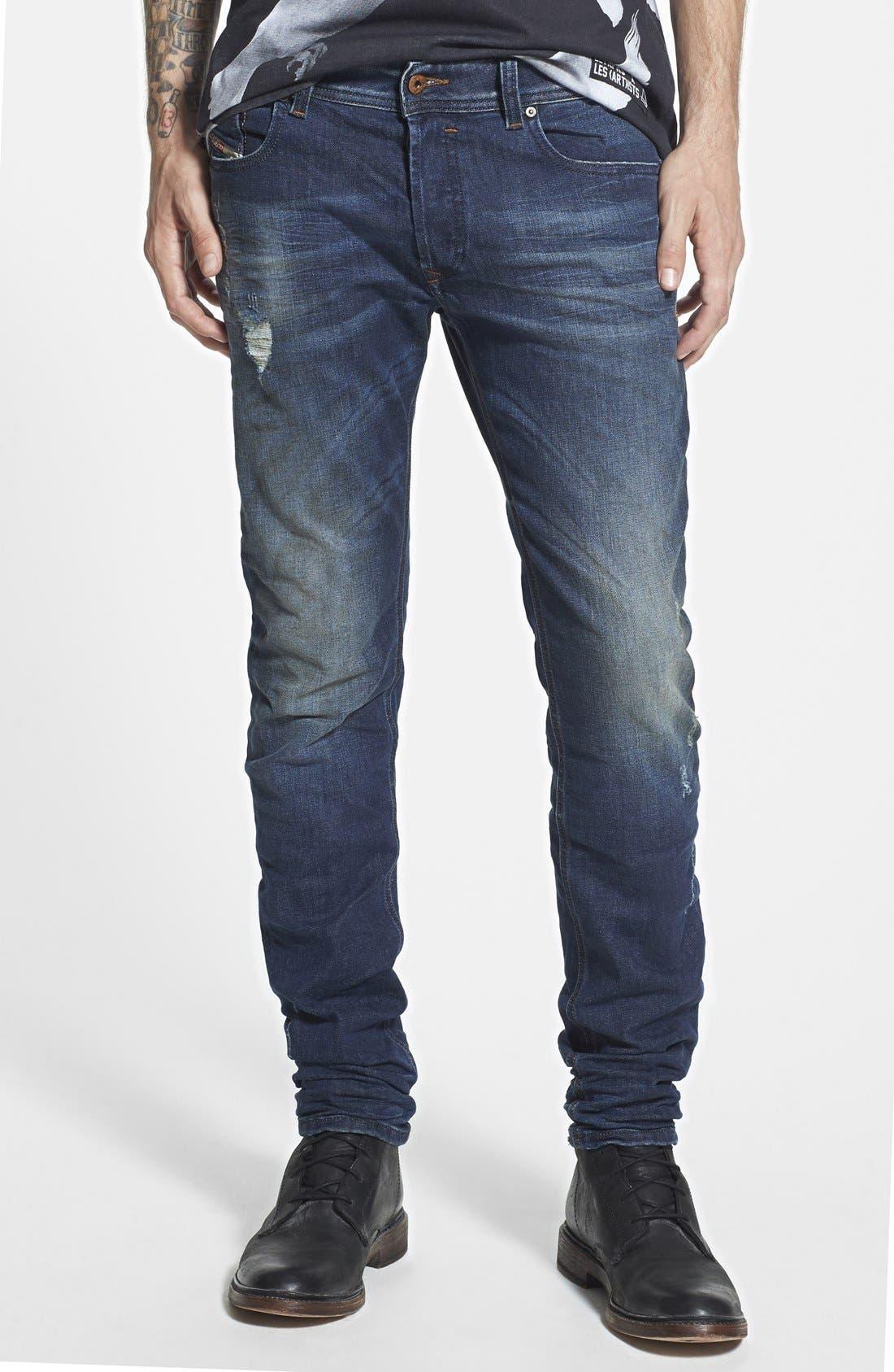 'Sleenker' Skinny Fit Jeans, Main, color, 499