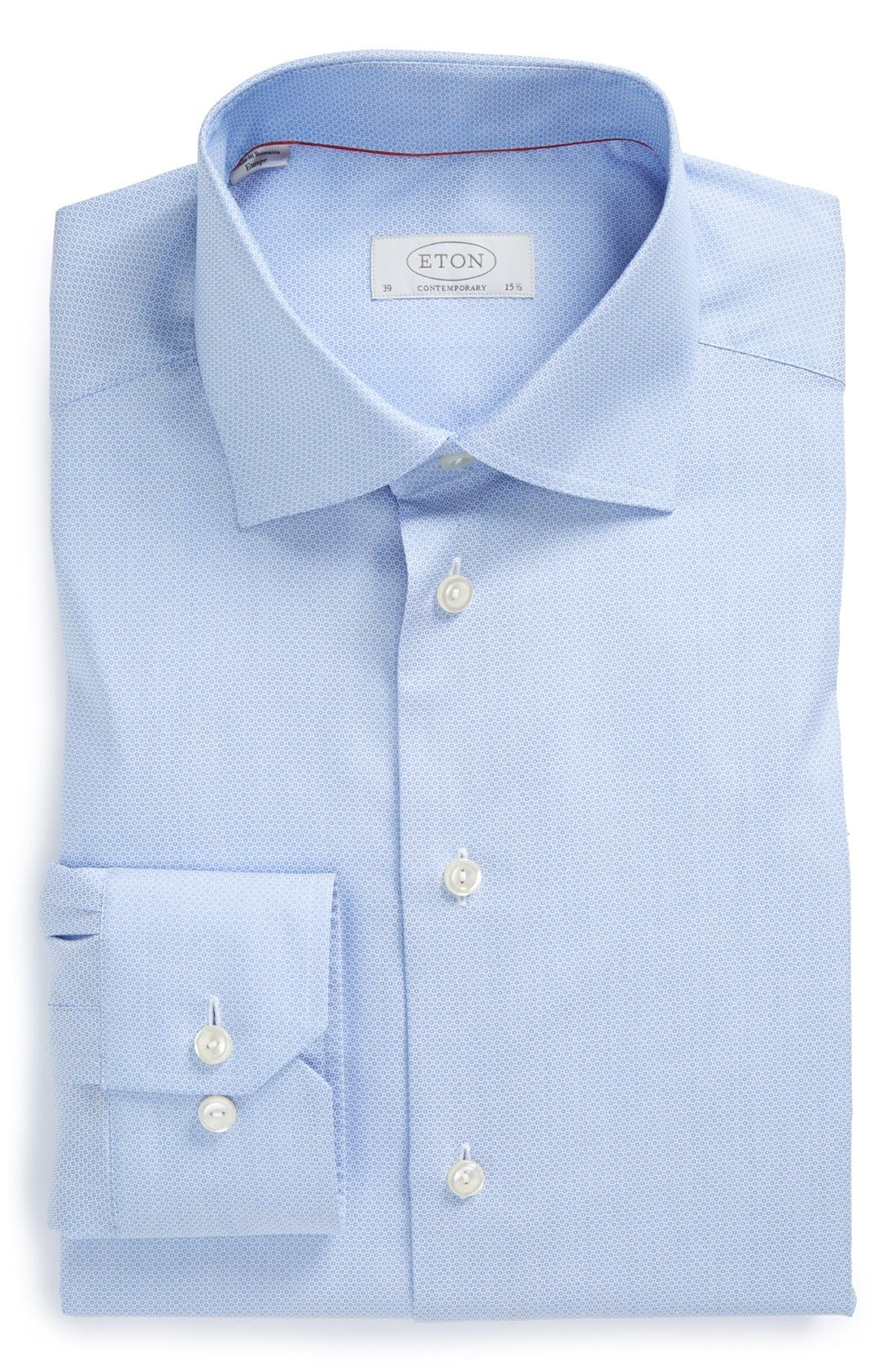 Contemporary Fit Textured Solid Dress Shirt,                         Main,                         color, BLUE