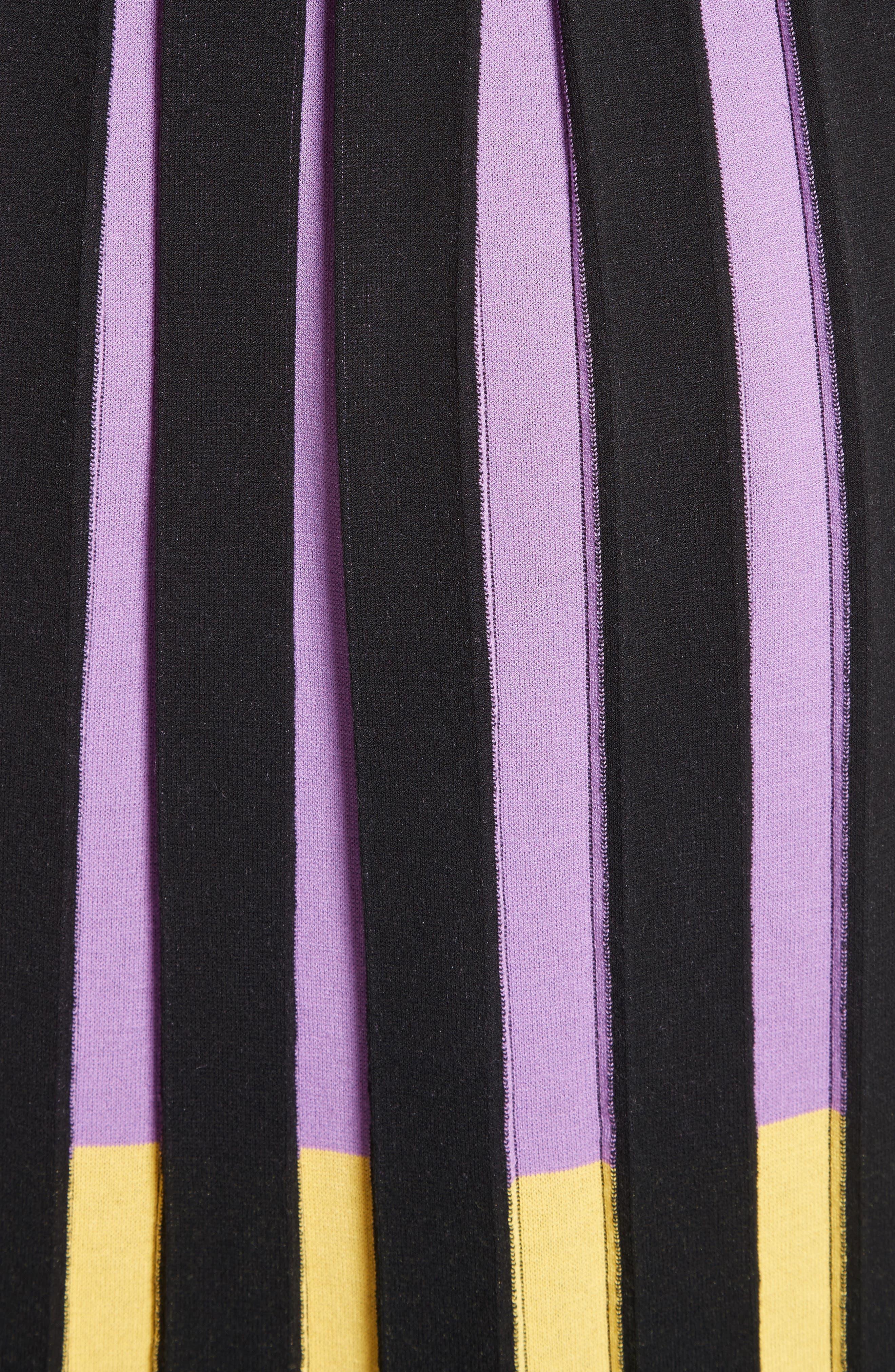 Knit Fit & Flare Dress,                             Alternate thumbnail 5, color,                             009
