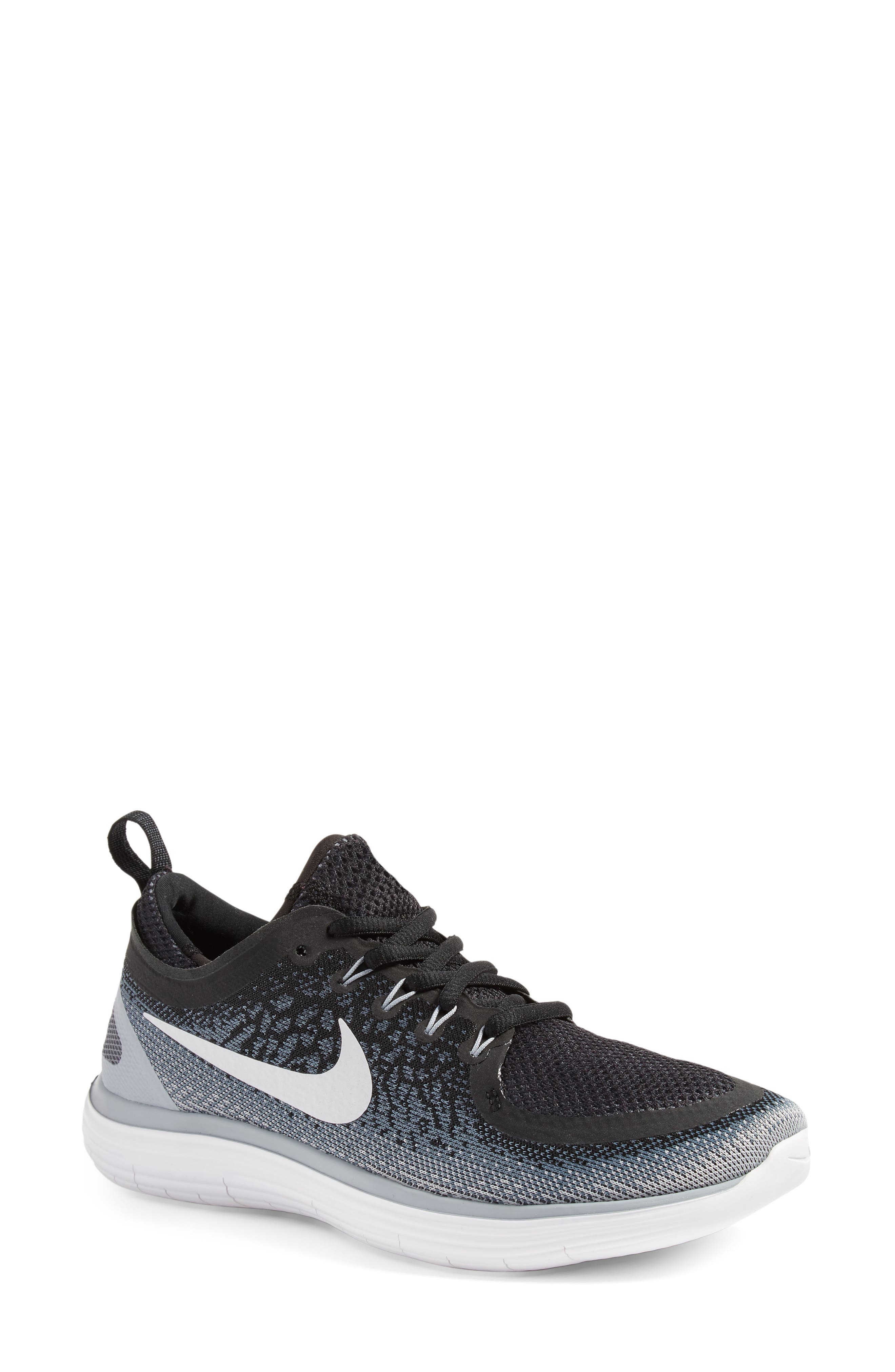 Free Run Distance 2 Running Shoe,                             Main thumbnail 1, color,                             001