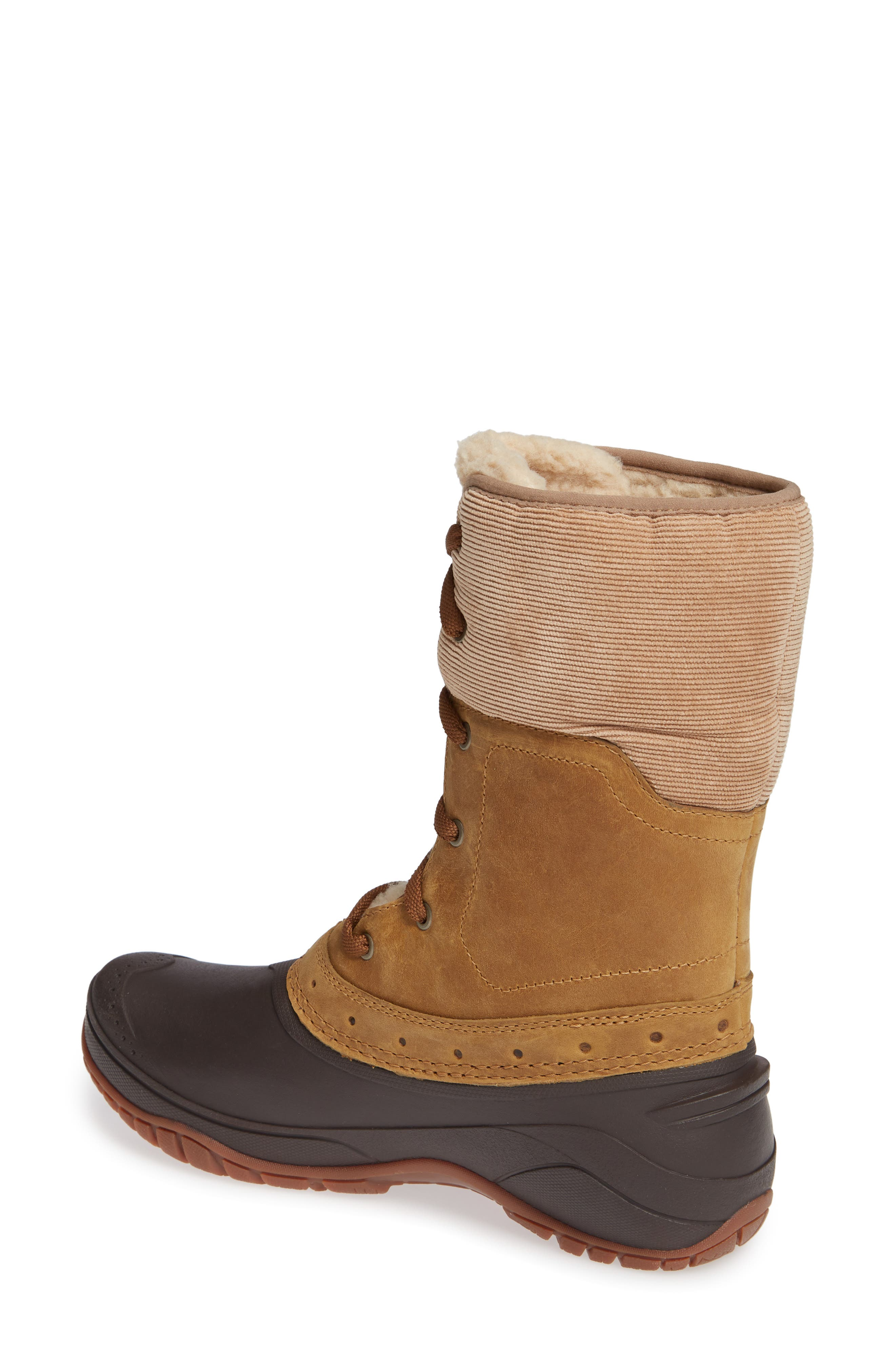 Shellista Roll Cuff Waterproof Insulated Winter Boot,                             Alternate thumbnail 2, color,                             GOLDEN BROWN/ COFFEE BROWN