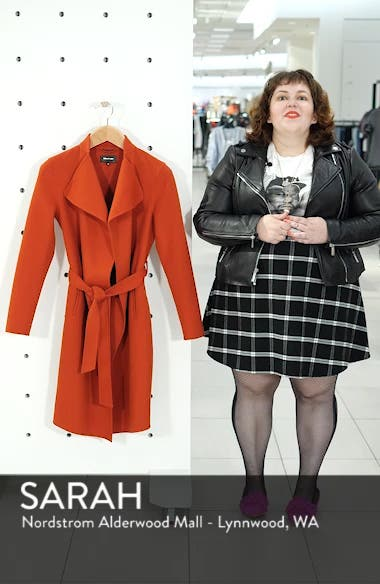 Leora Belted Long Wool Coat, sales video thumbnail