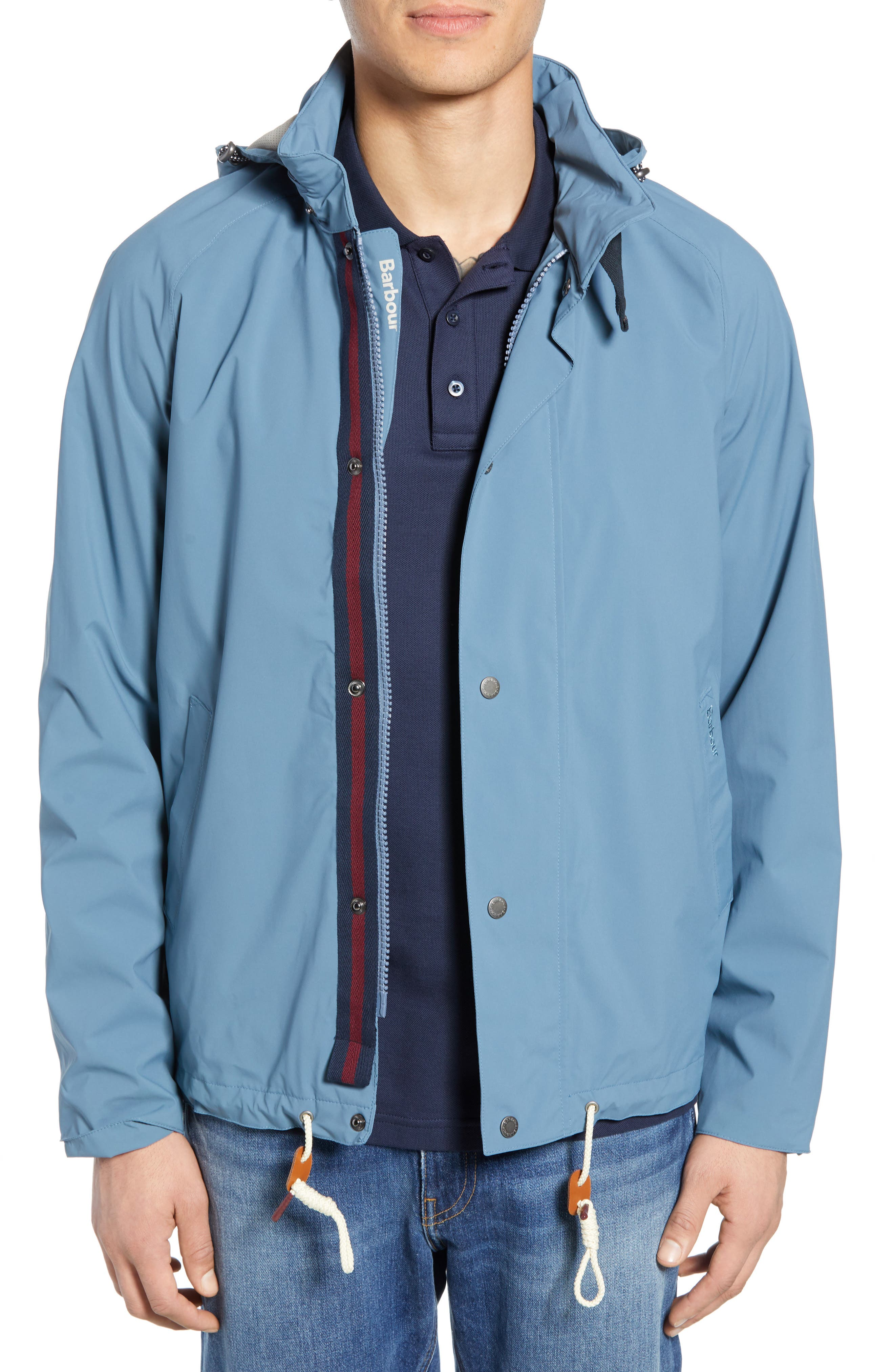 Barbour Clanfield Waterproof Hooded Jacket, Blue