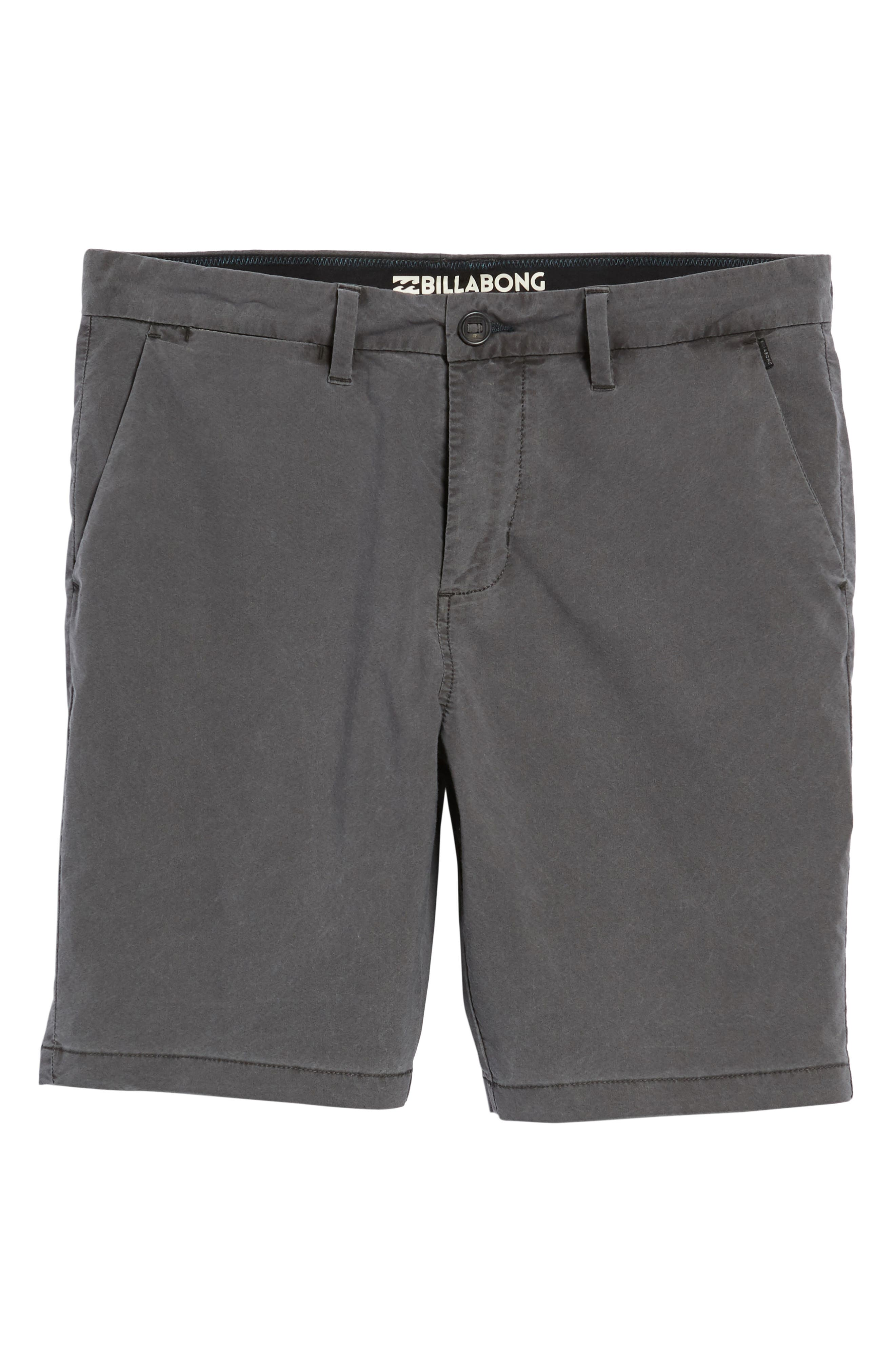 BILLABONG,                             New Order X Overdye Hybrid Shorts,                             Alternate thumbnail 6, color,                             001