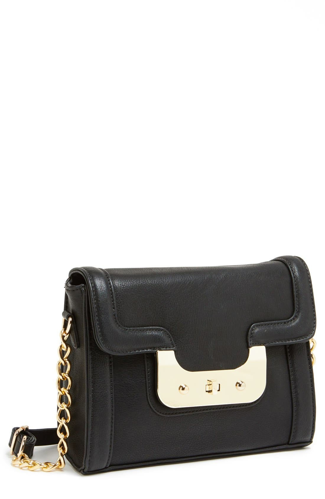 Faux Leather Crossbody,                             Main thumbnail 1, color,                             001