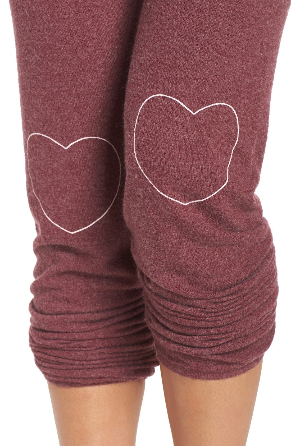 Heart Graphic Hacci Sweatpants,                             Alternate thumbnail 5, color,                             930