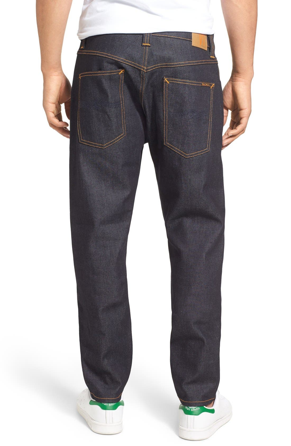 'Brute Knut' Slouchy Slim Fit Selvedge Jeans,                             Alternate thumbnail 2, color,                             411