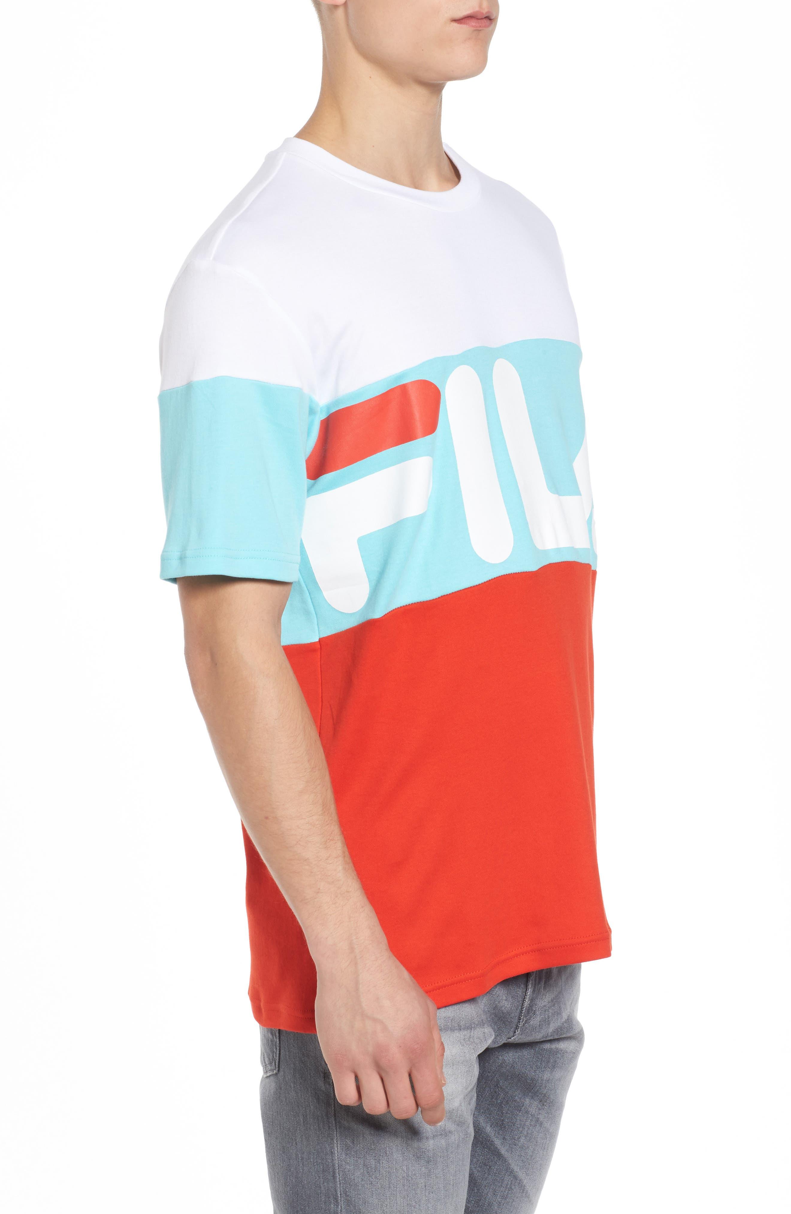 Vialli Colorblock Logo T-Shirt,                             Alternate thumbnail 3, color,                             400
