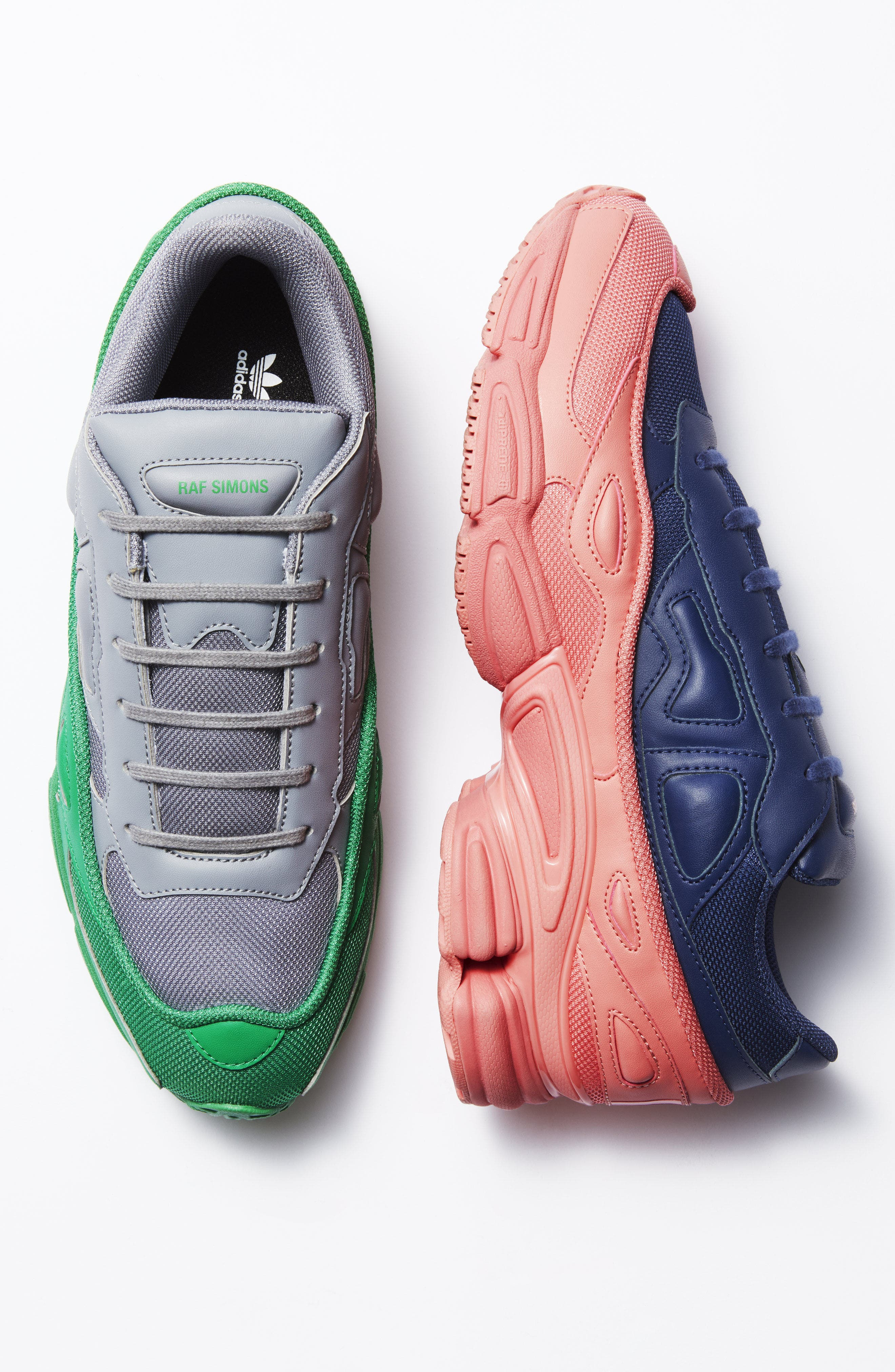 adidas by Raf Simons Ozweego III Sneaker,                             Alternate thumbnail 7, color,                             TACTILE ROSE/ DARK BLUE