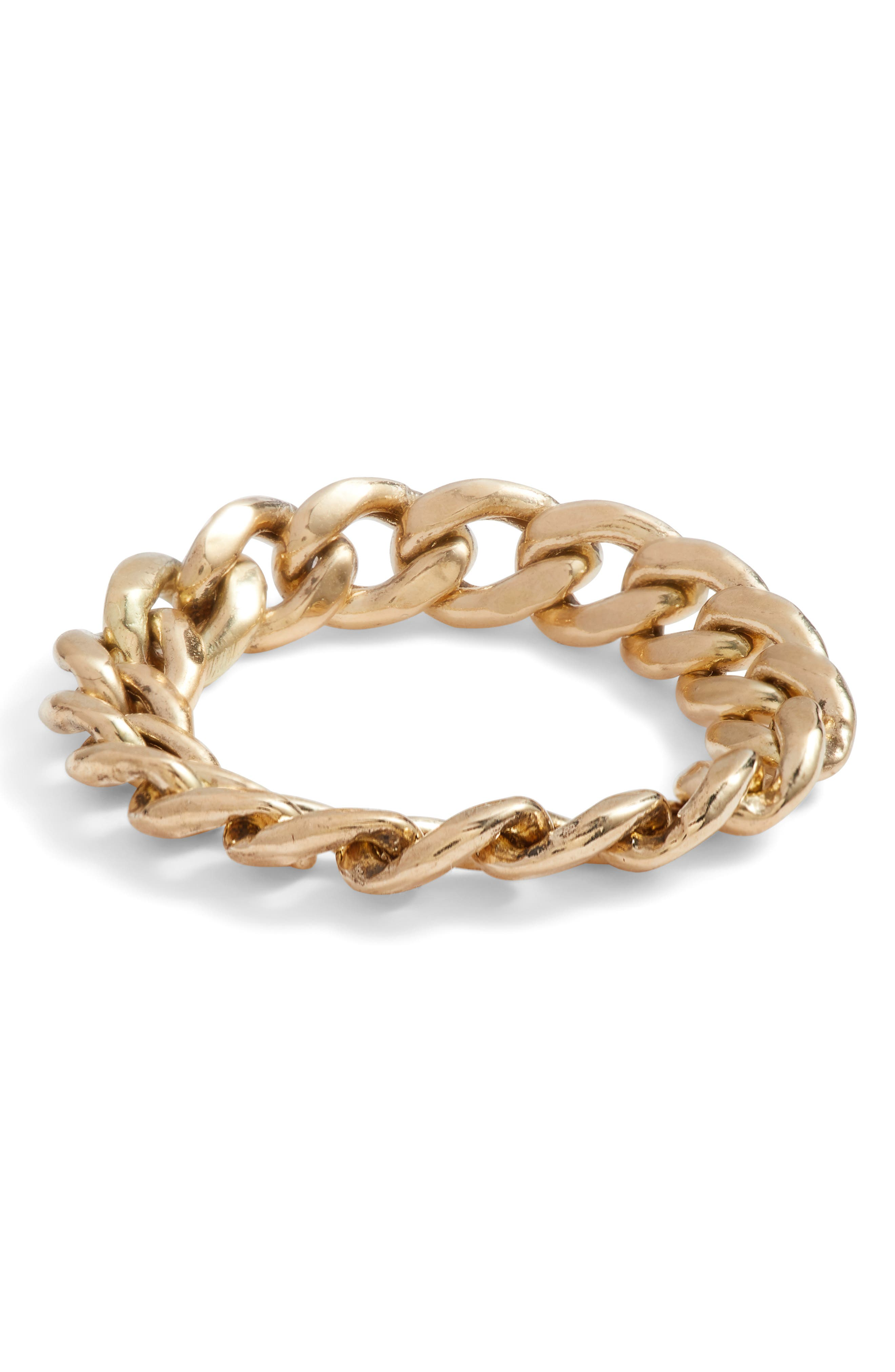 Curb Chain Ring,                             Alternate thumbnail 2, color,                             GOLD