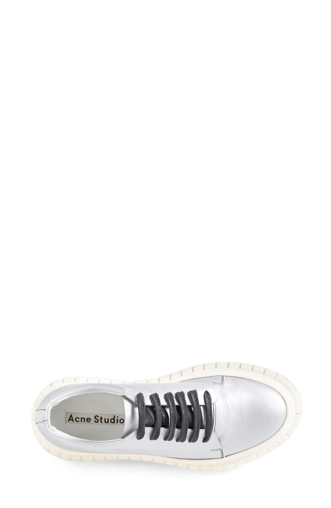 ACNE STUDIOS,                             ACNE Studio 'Saddy' Platform Sneaker,                             Alternate thumbnail 4, color,                             040