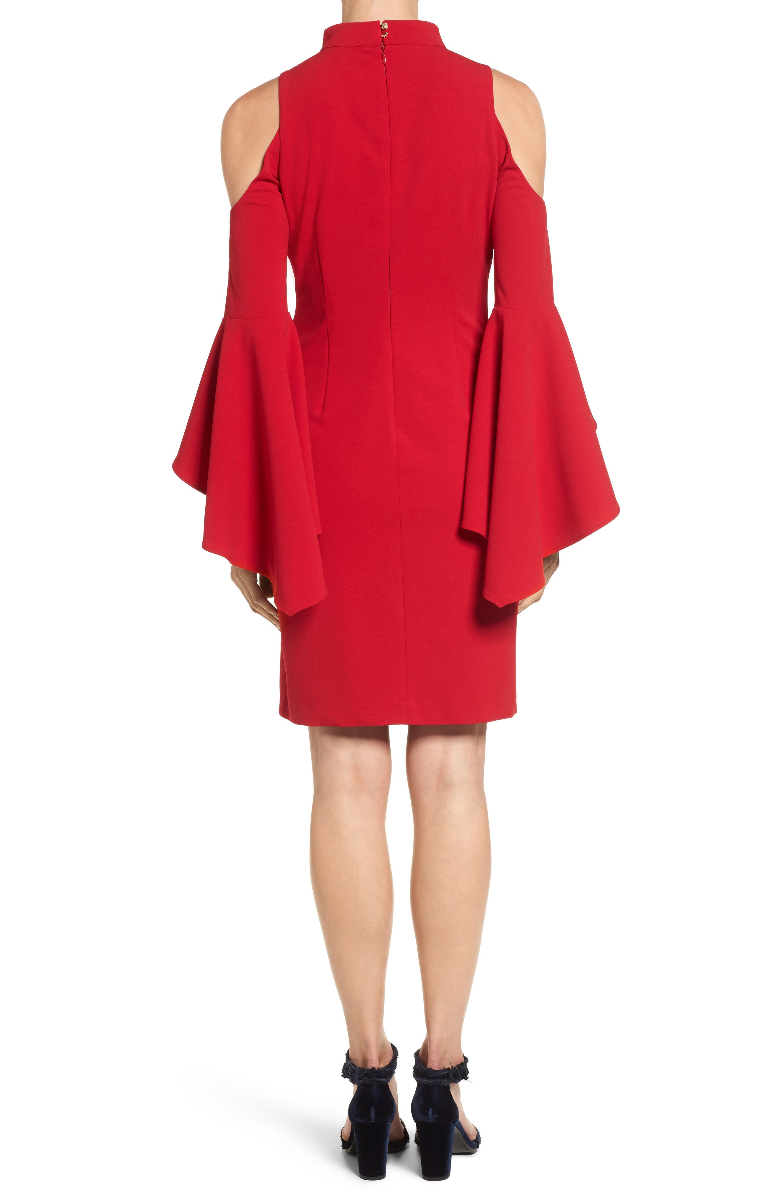 Cold Shoulder Bell Sleeve Dress,                             Alternate thumbnail 2, color,                             614