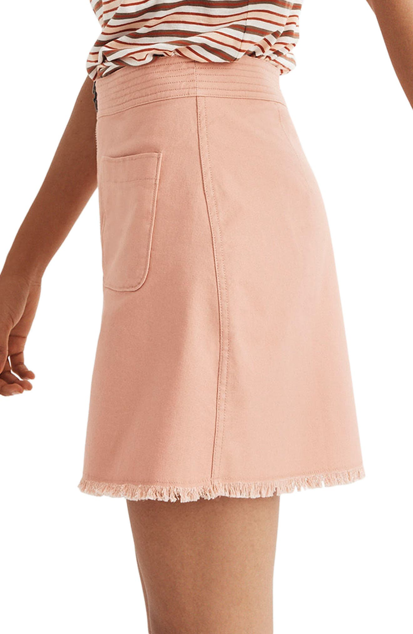 A-Line Zip Skirt,                             Alternate thumbnail 3, color,                             651