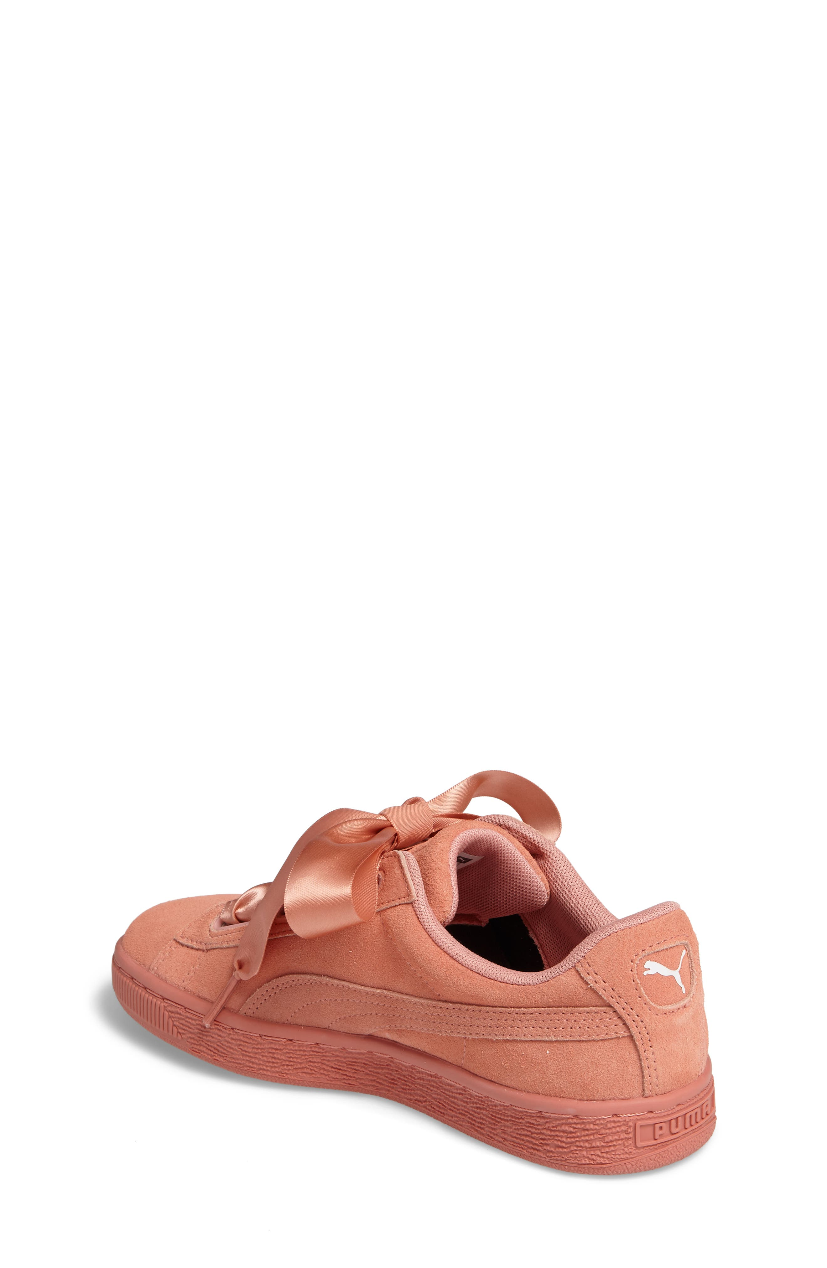 Suede Heart Sneaker,                             Alternate thumbnail 8, color,