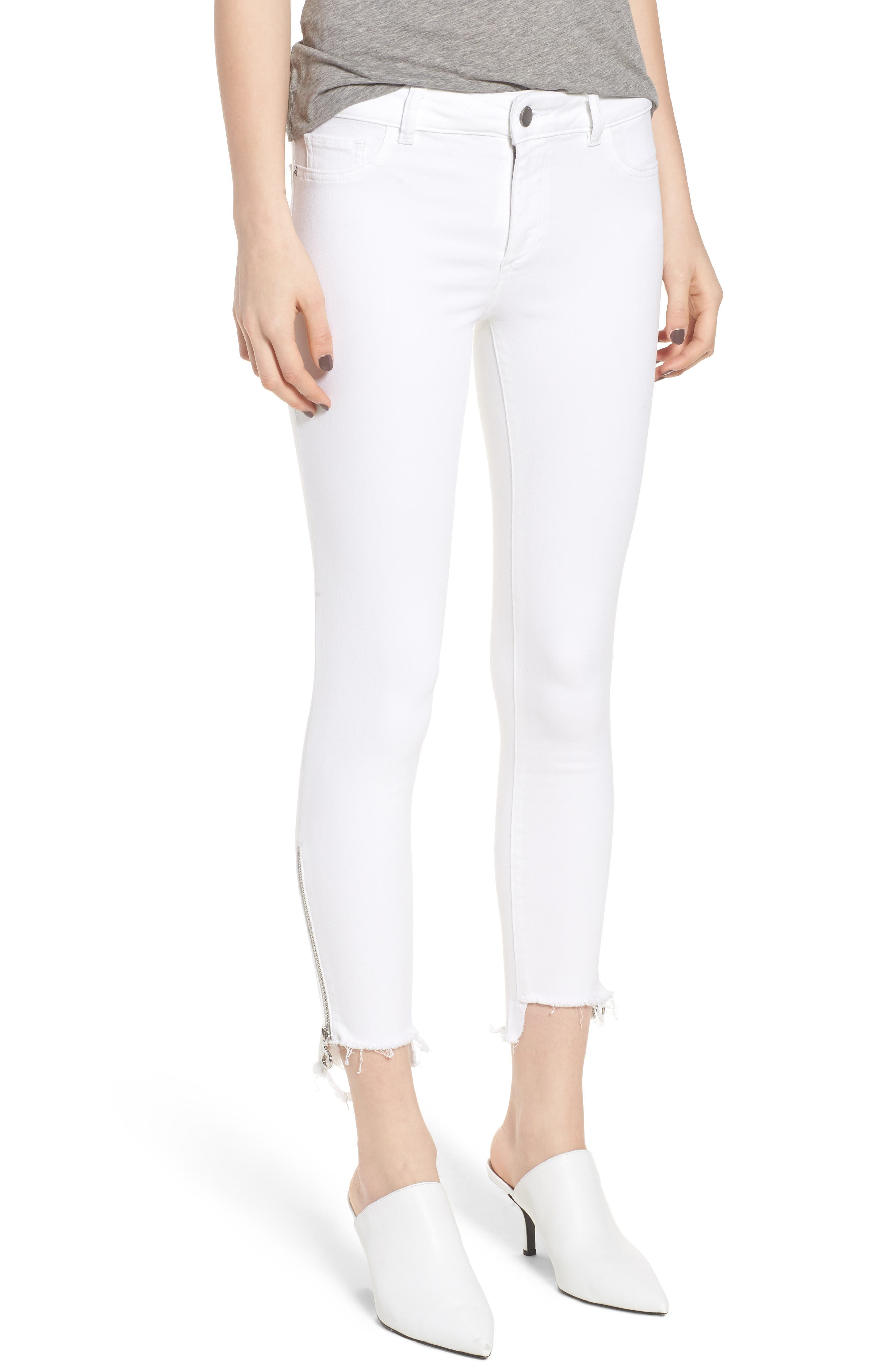 Florence Instasculpt Crop Skinny Jeans,                         Main,                         color, 100