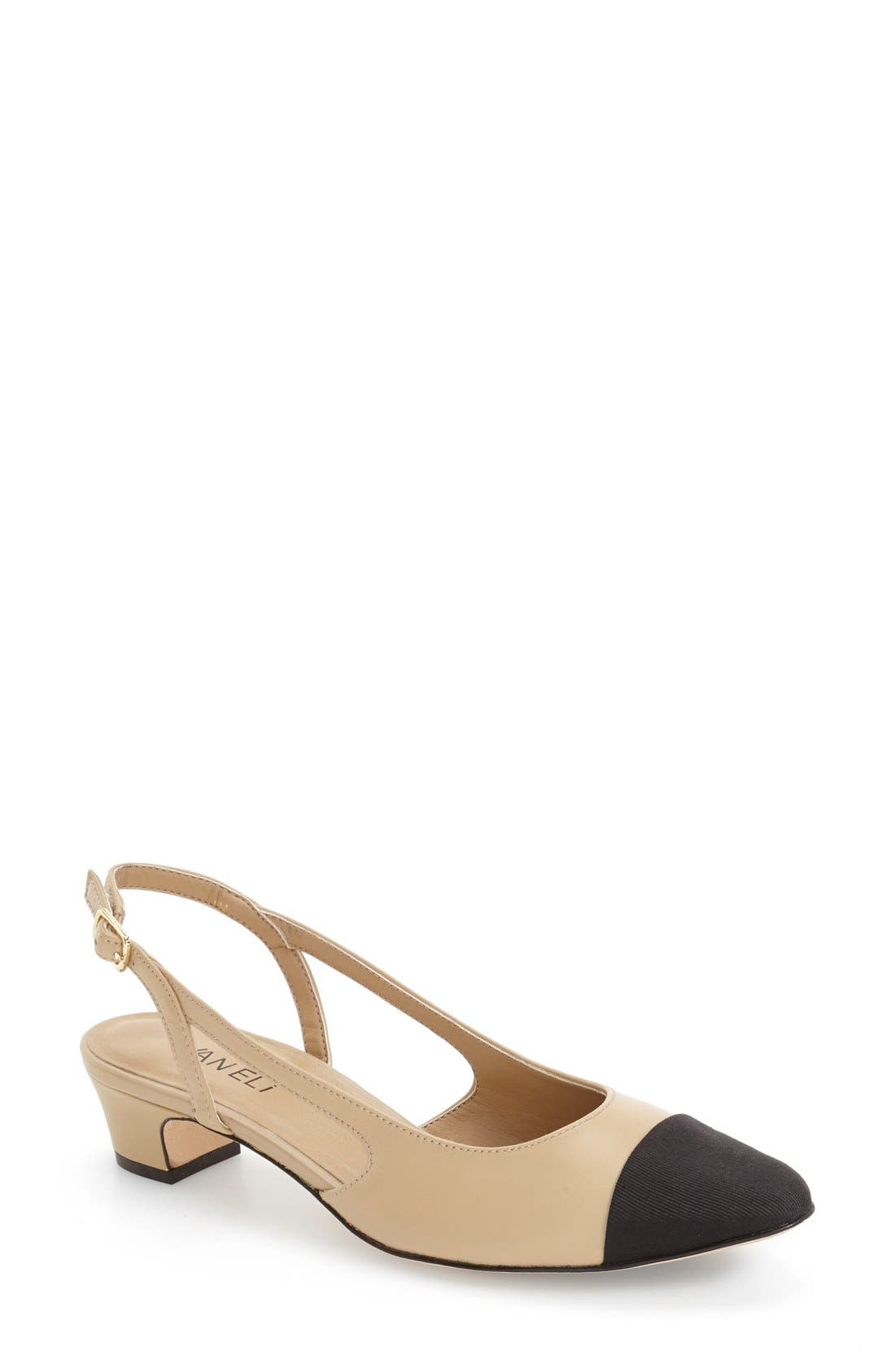 'Aliz' Slingback Pump,                         Main,                         color, PUDDING LEATHER