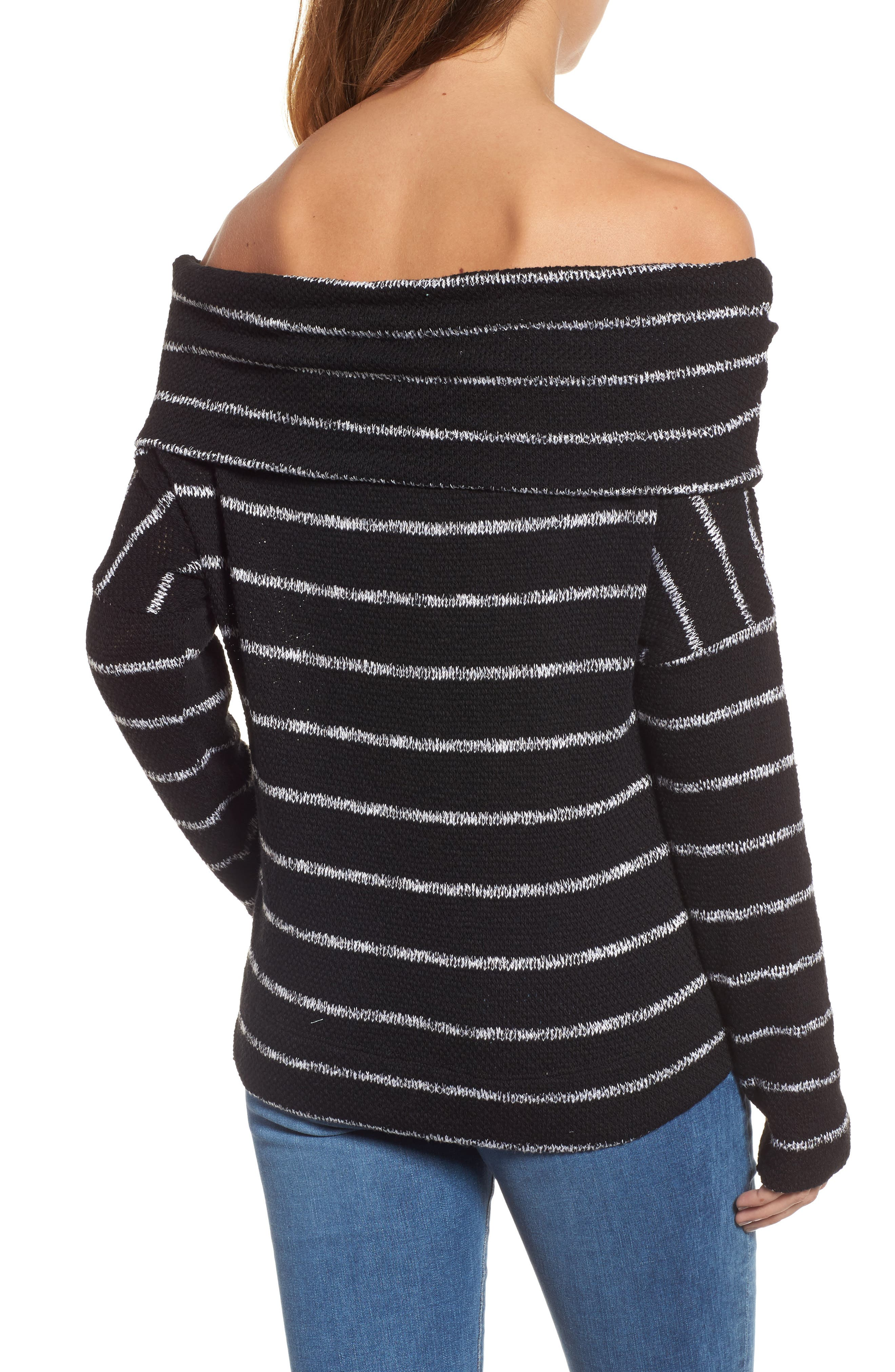 Convertible Off the Shoulder Pullover,                             Alternate thumbnail 2, color,                             002