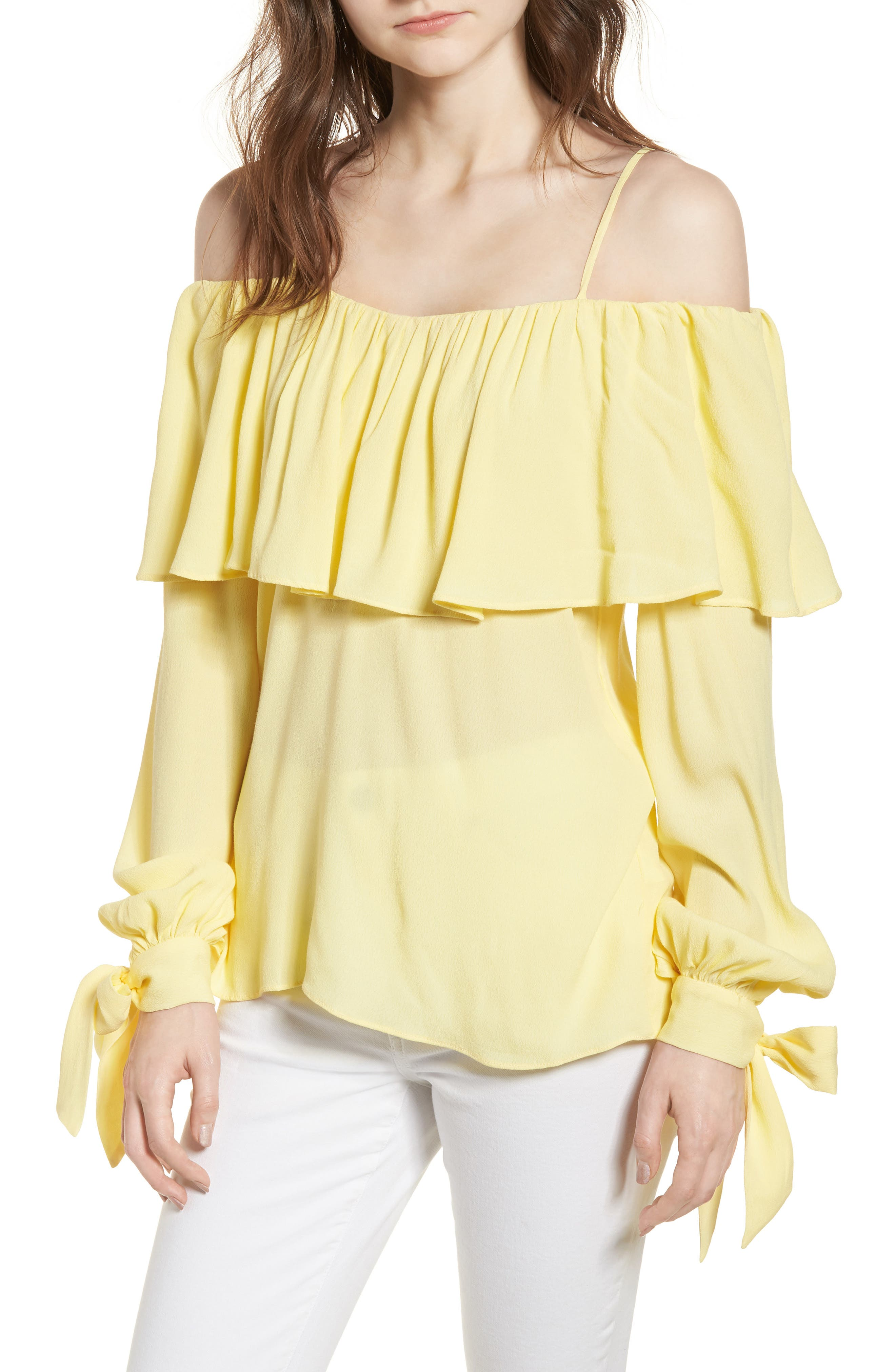 Chorus Off the Shoulder Tie Sleeve Top,                             Main thumbnail 1, color,                             700