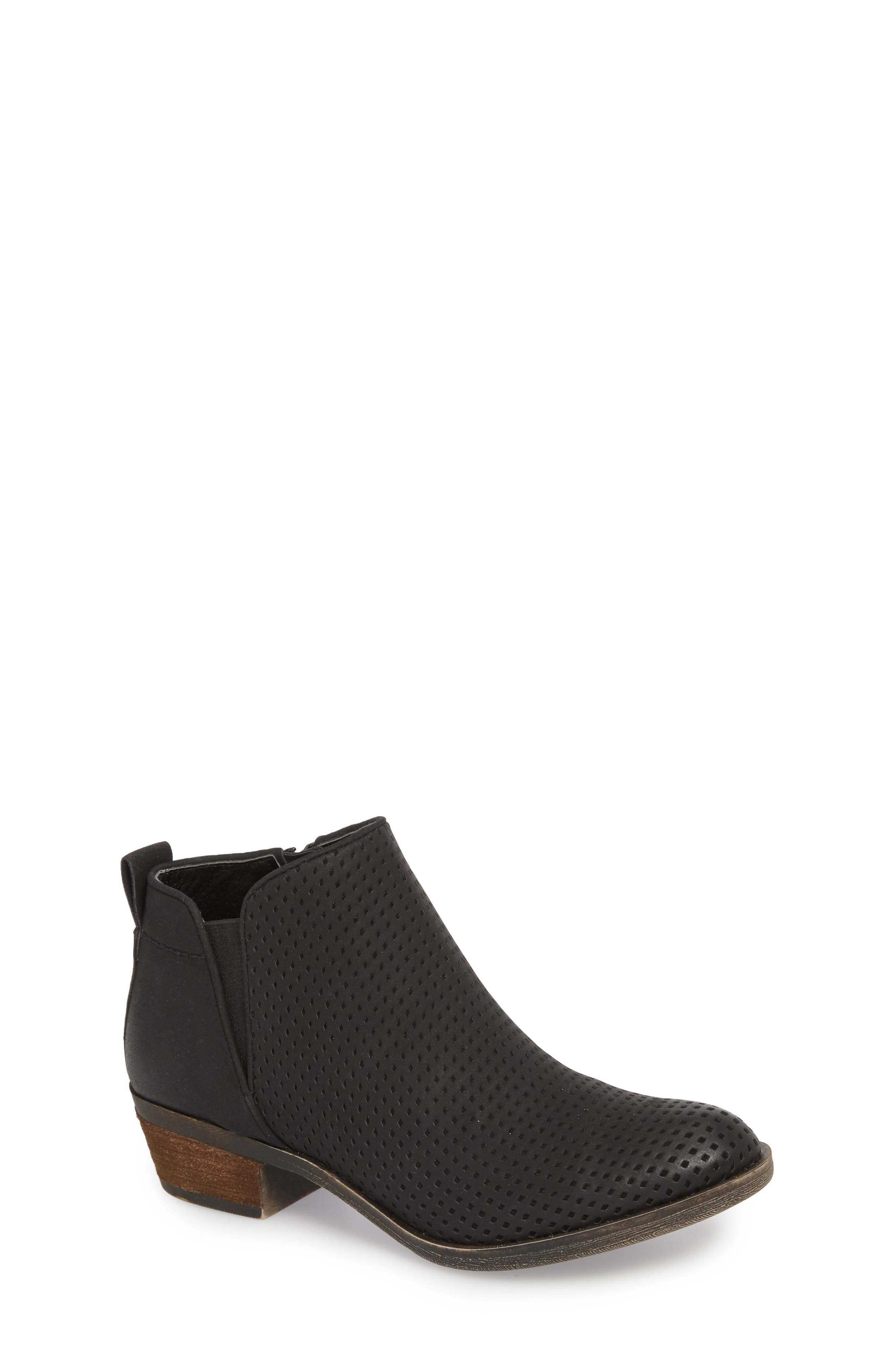 Isla Bootie,                         Main,                         color, BLACK FAUX LEATHER
