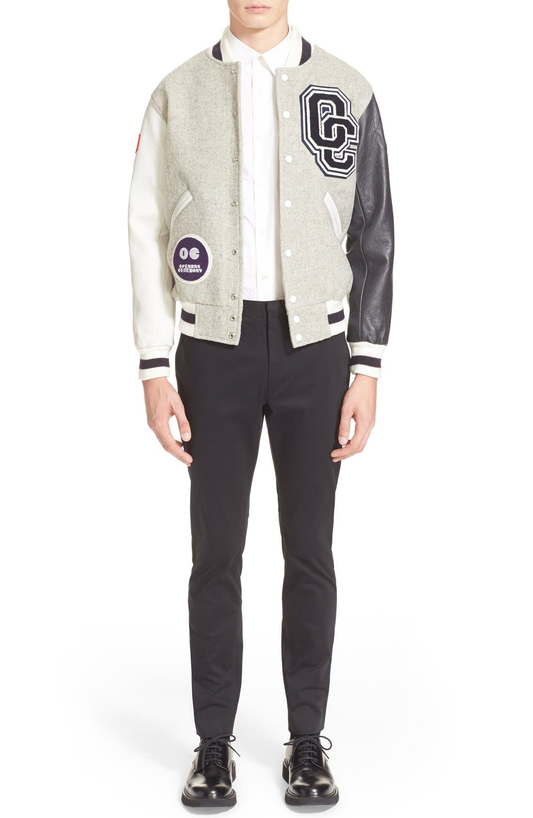 'OC Classic' Varsity Jacket,                             Alternate thumbnail 4, color,