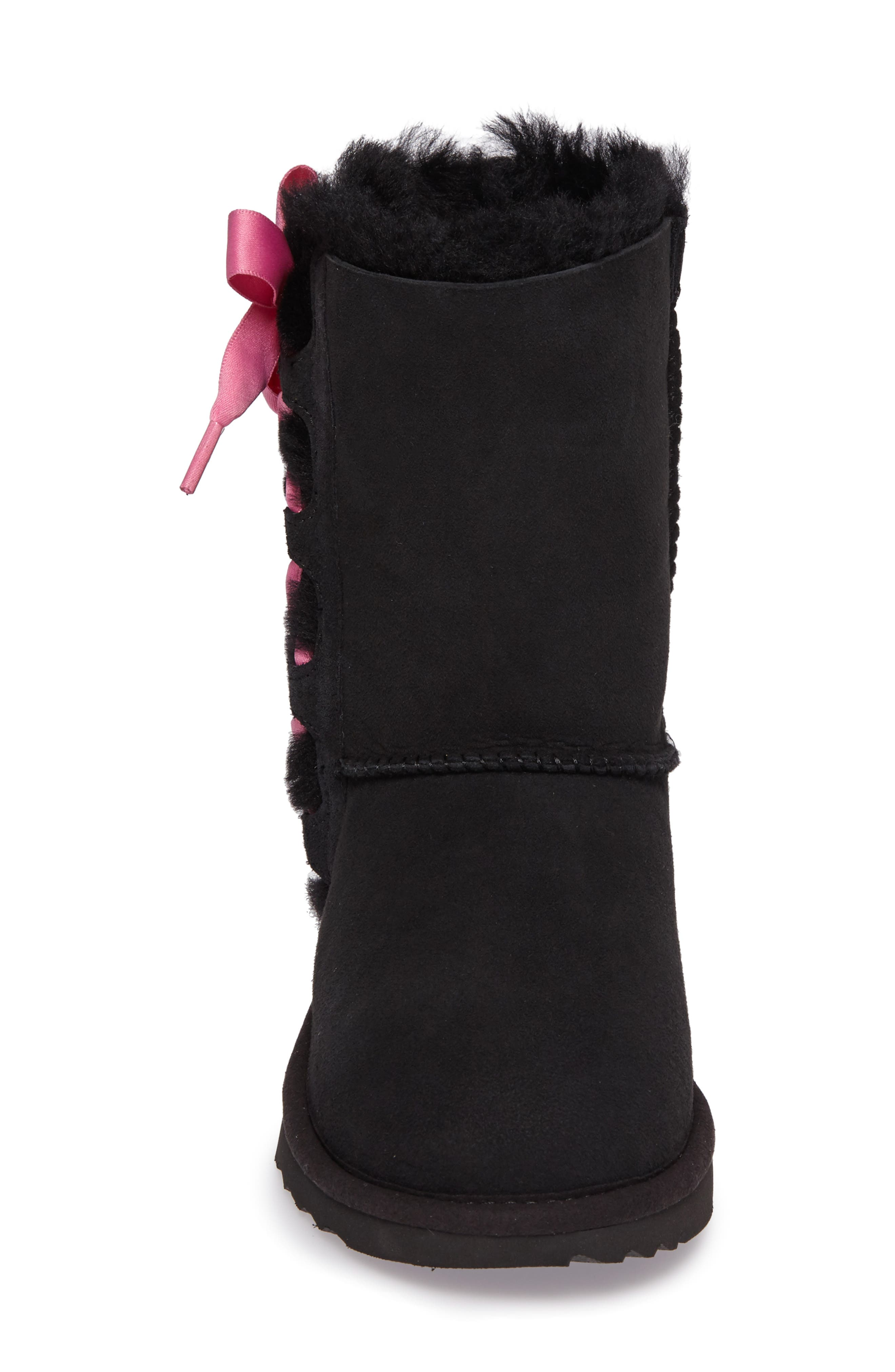 Pala Water-Resistant Genuine Shearling Boot,                             Alternate thumbnail 4, color,                             BLACK