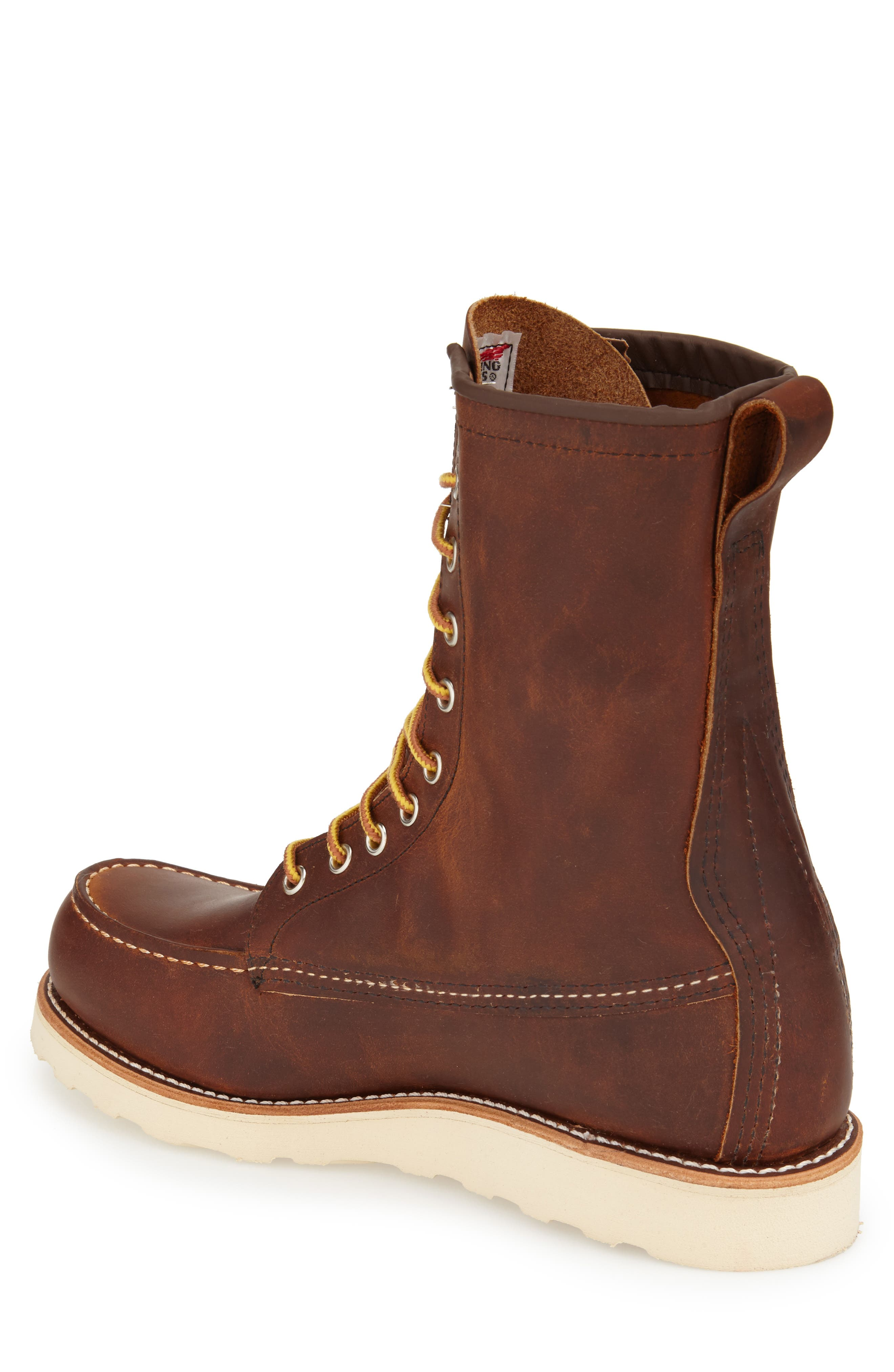 '877' Moc Toe Boot,                             Alternate thumbnail 2, color,                             COPPER LEATHER