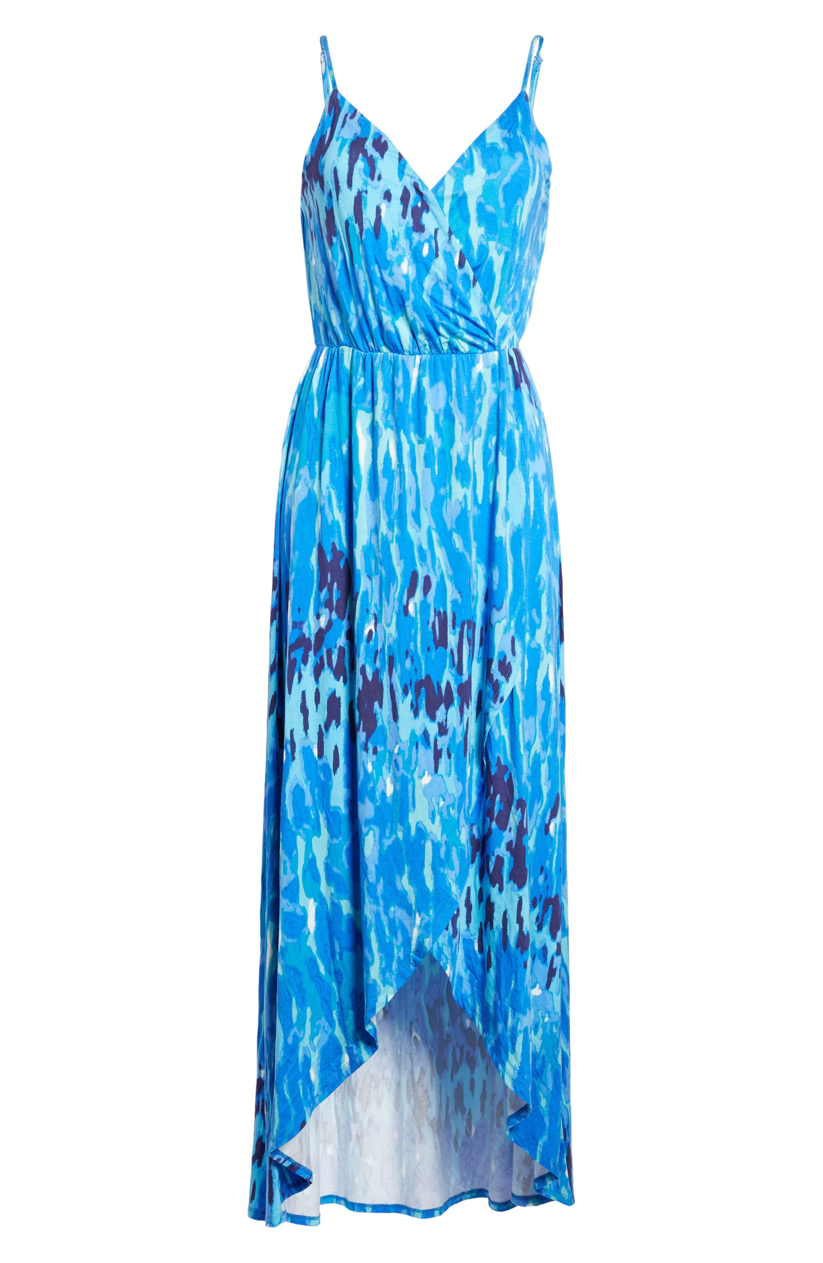 Jersey Faux Wrap Dress,                             Alternate thumbnail 2, color,                             400