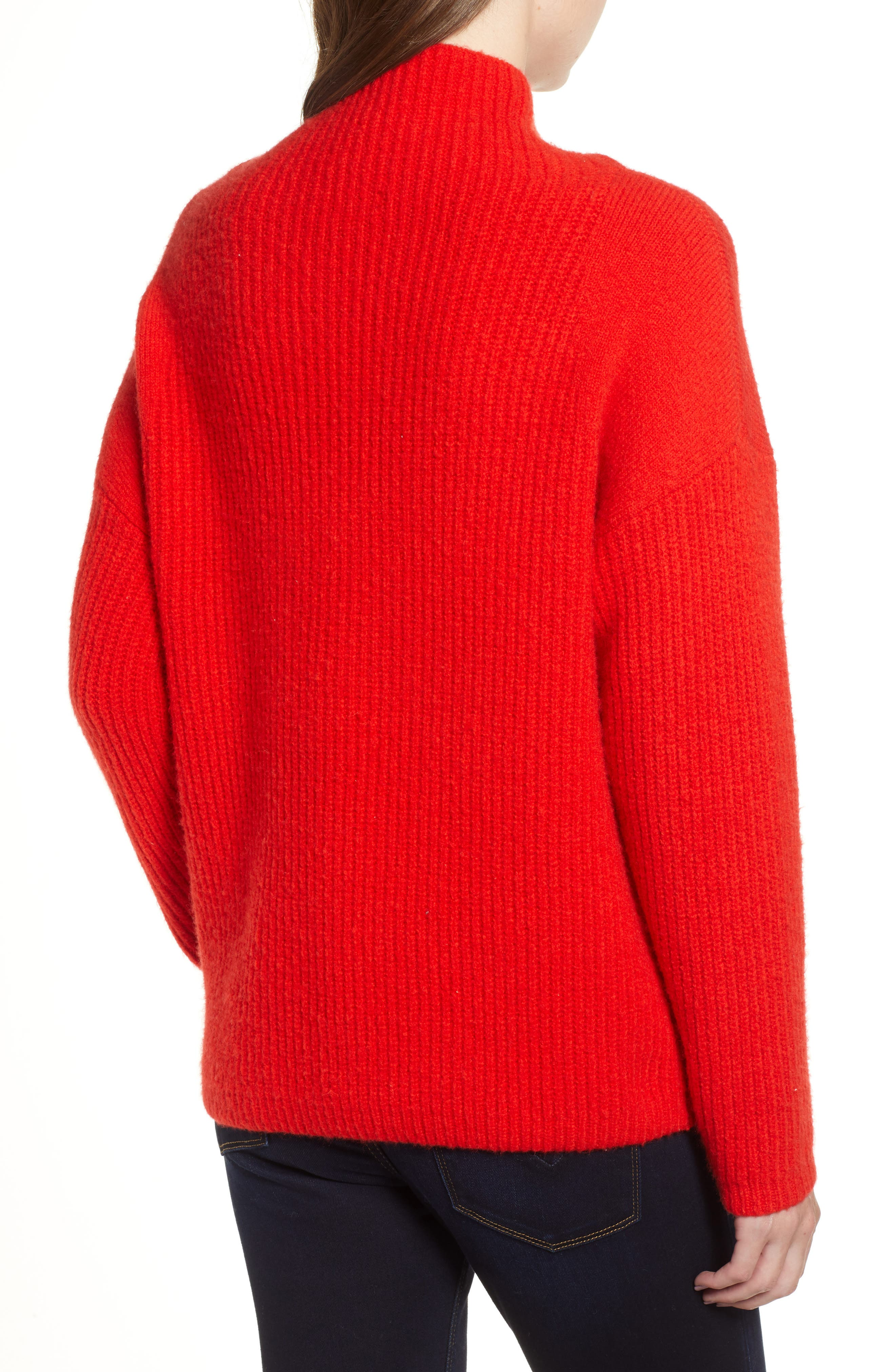 Rib Funnel Neck Sweater,                             Alternate thumbnail 2, color,                             610