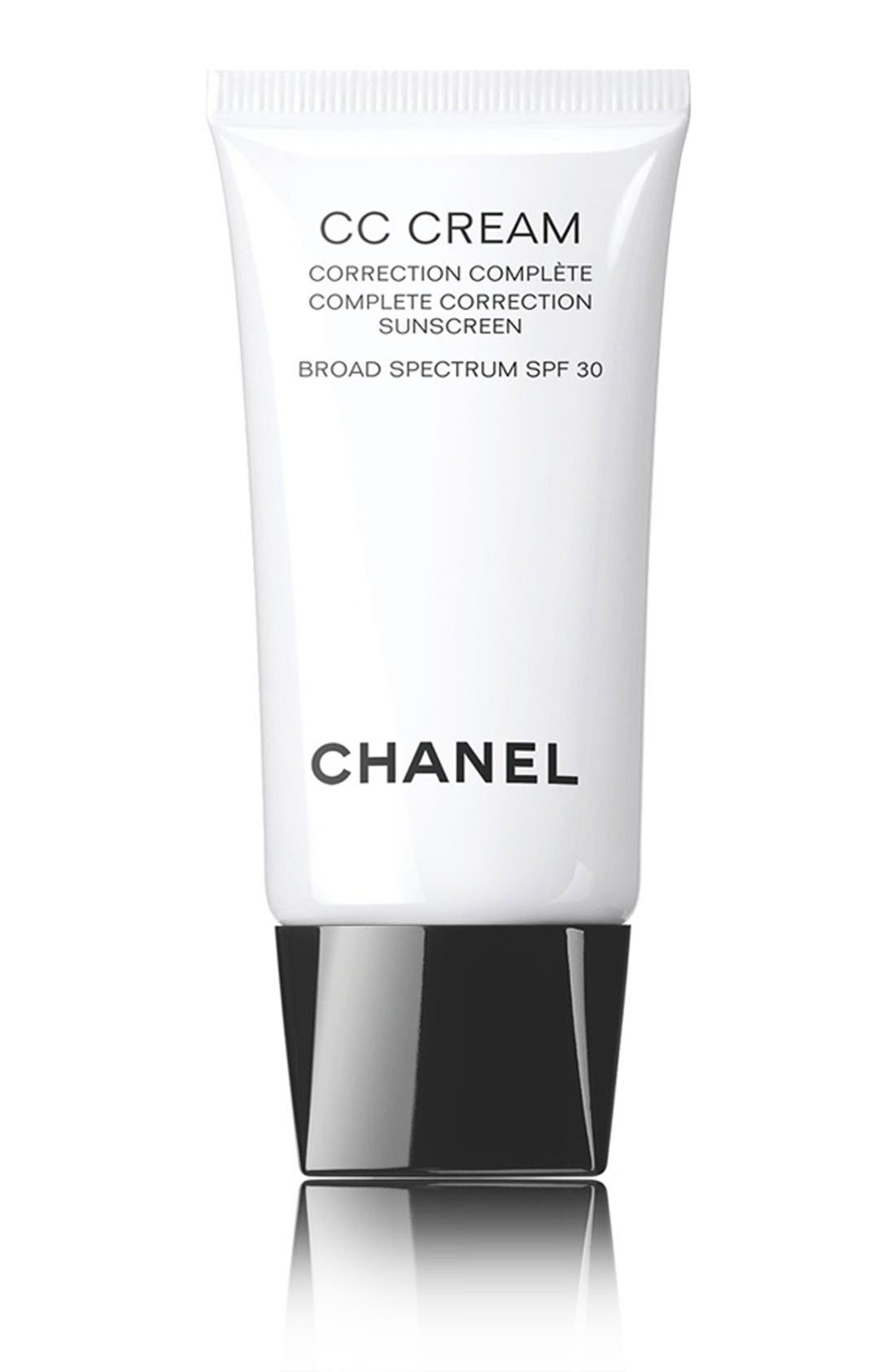 CHANEL,                             <br />CC CREAM<br />Complete Correction Sunscreen Broad Spectrum SPF 25 - 32 Beige Rose,                             Main thumbnail 1, color,                             250