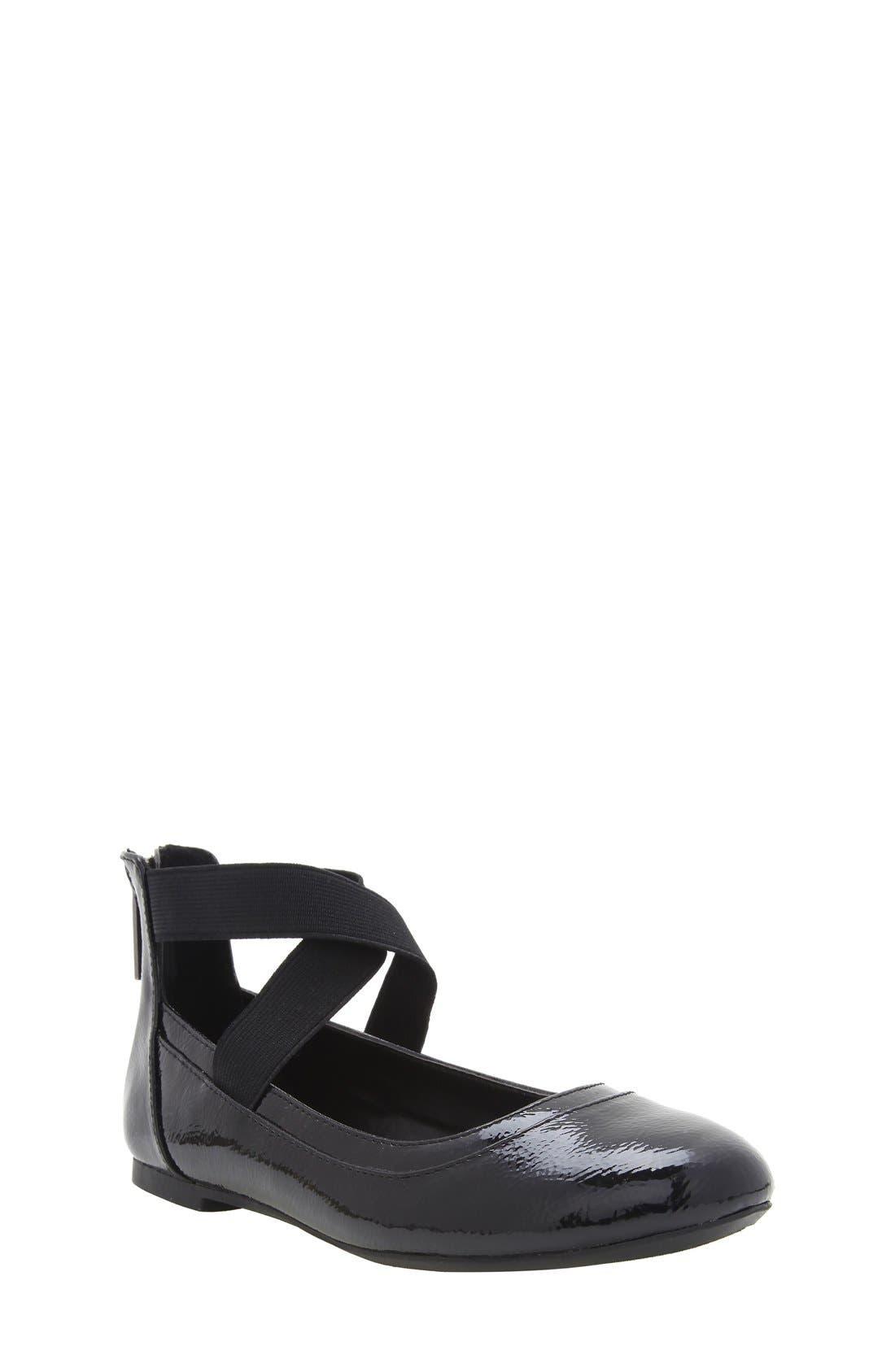 'Alicea' Ankle Strap Ballet Flat,                         Main,                         color, 004