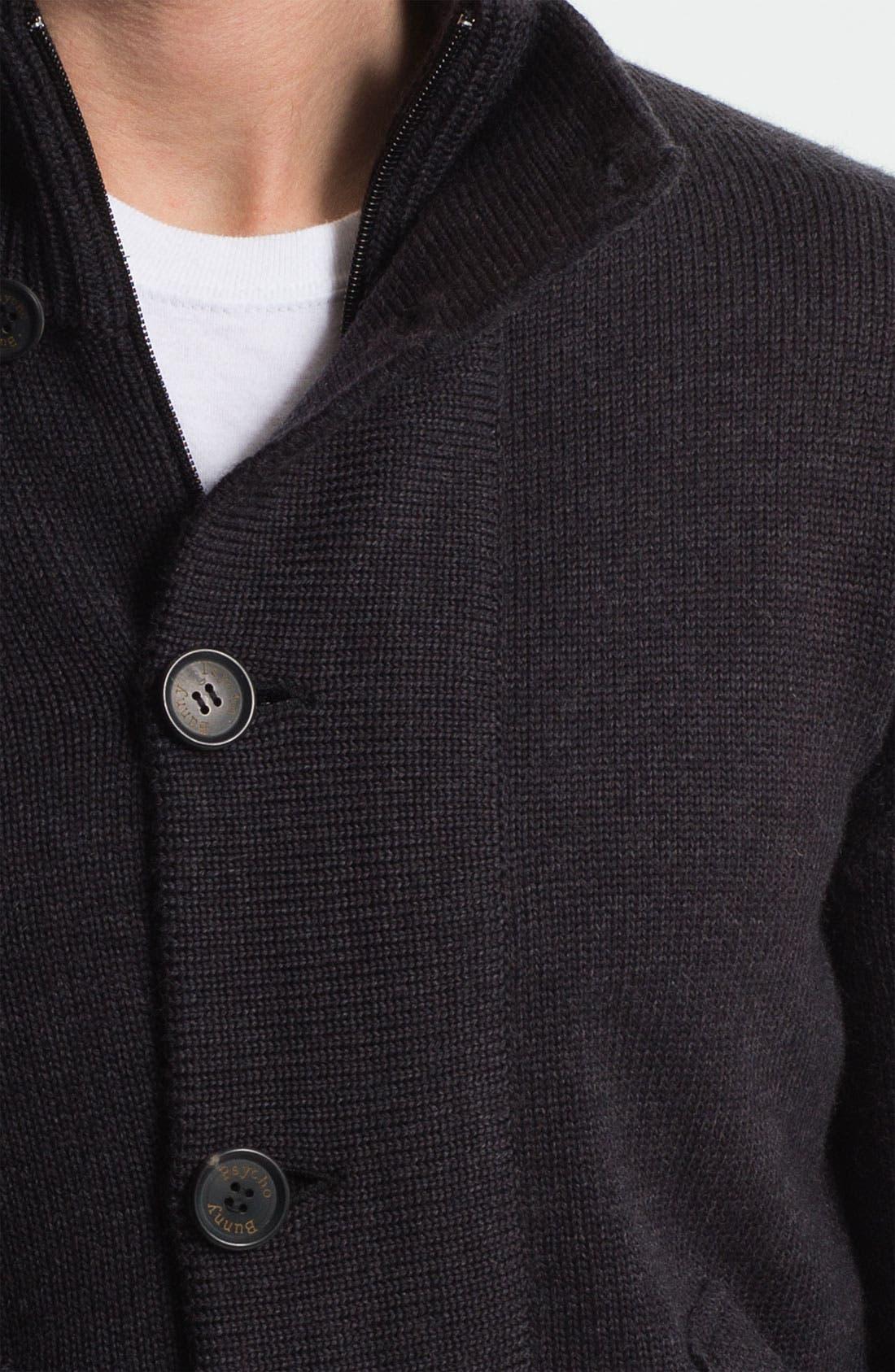 Mock Neck Merino Wool Sweater,                             Alternate thumbnail 3, color,                             010