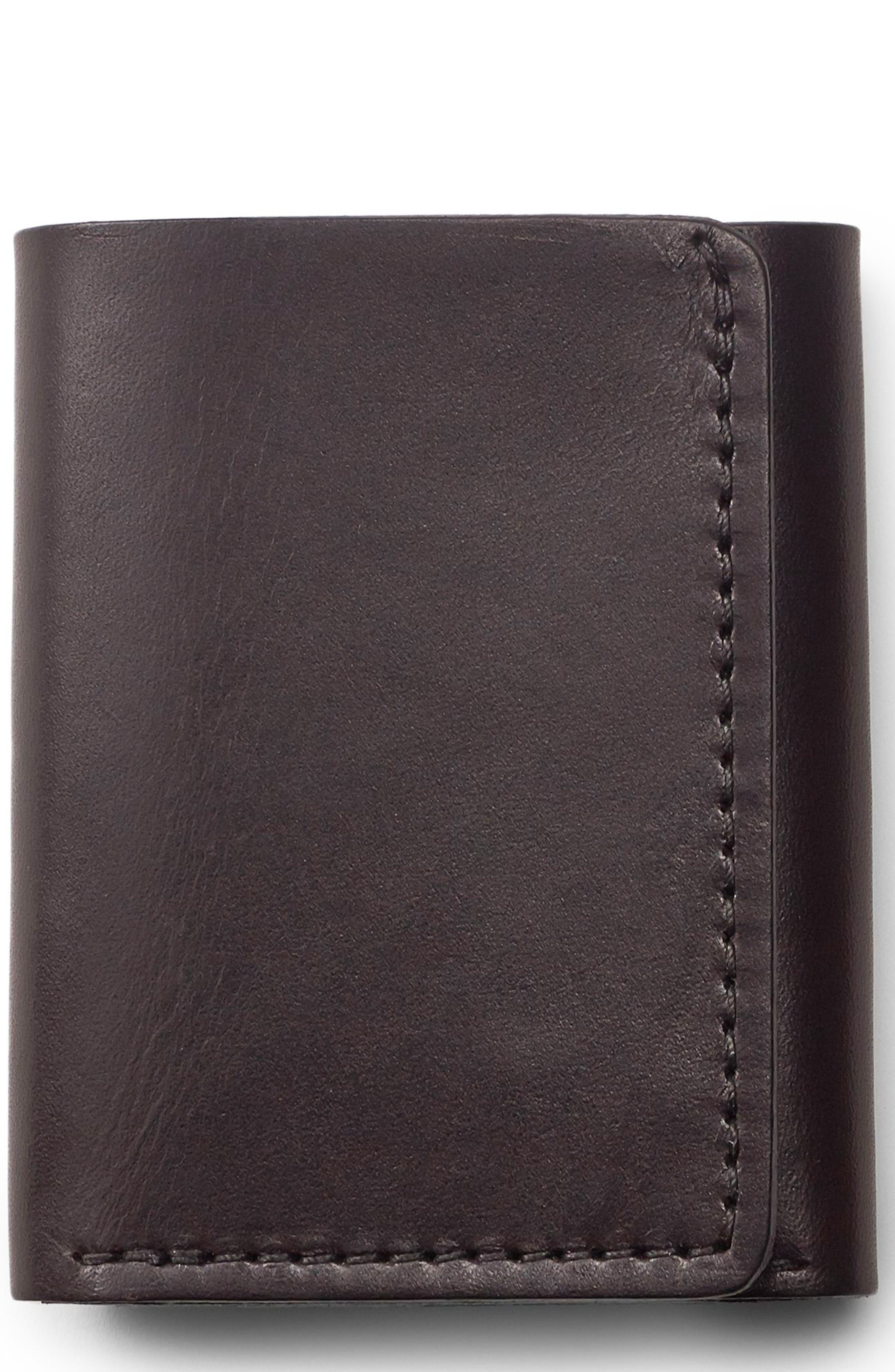 Leather Trifold Leather Wallet,                         Main,                         color,