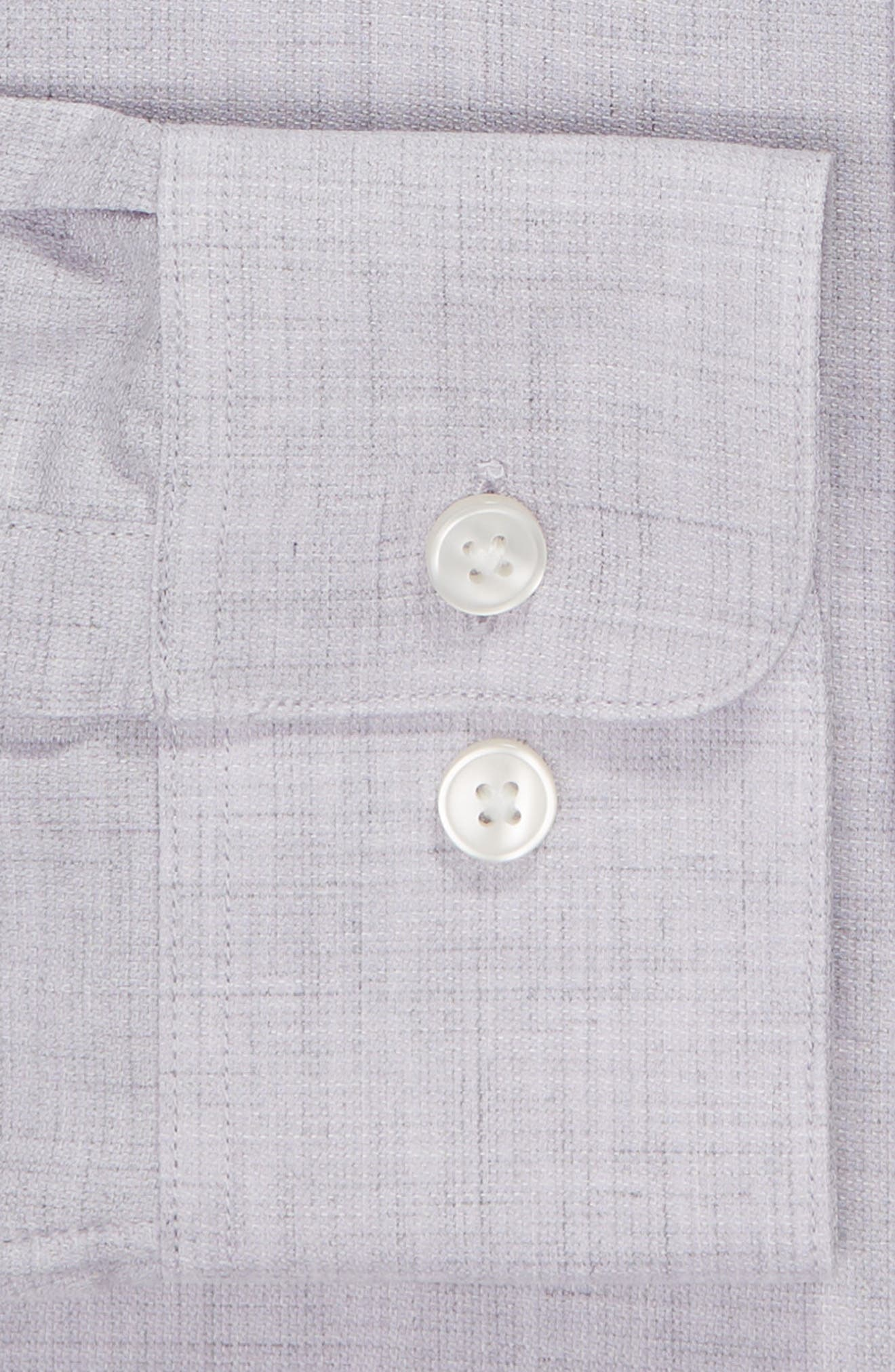 Regular Fit Solid Dress Shirt,                             Alternate thumbnail 6, color,                             HYDRANGEA