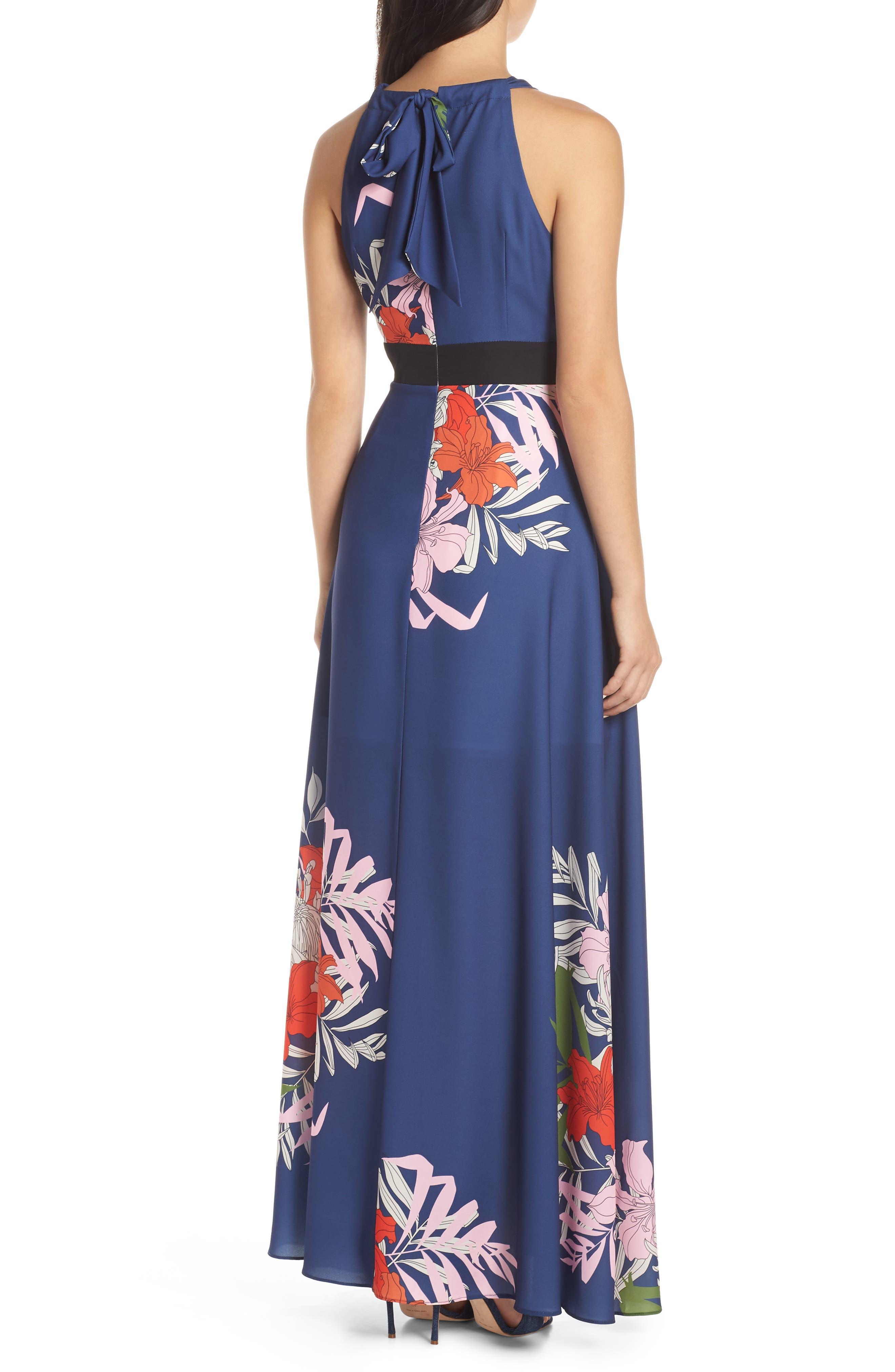 Palmira Maxi Dress,                             Alternate thumbnail 2, color,                             NAVY MULTI