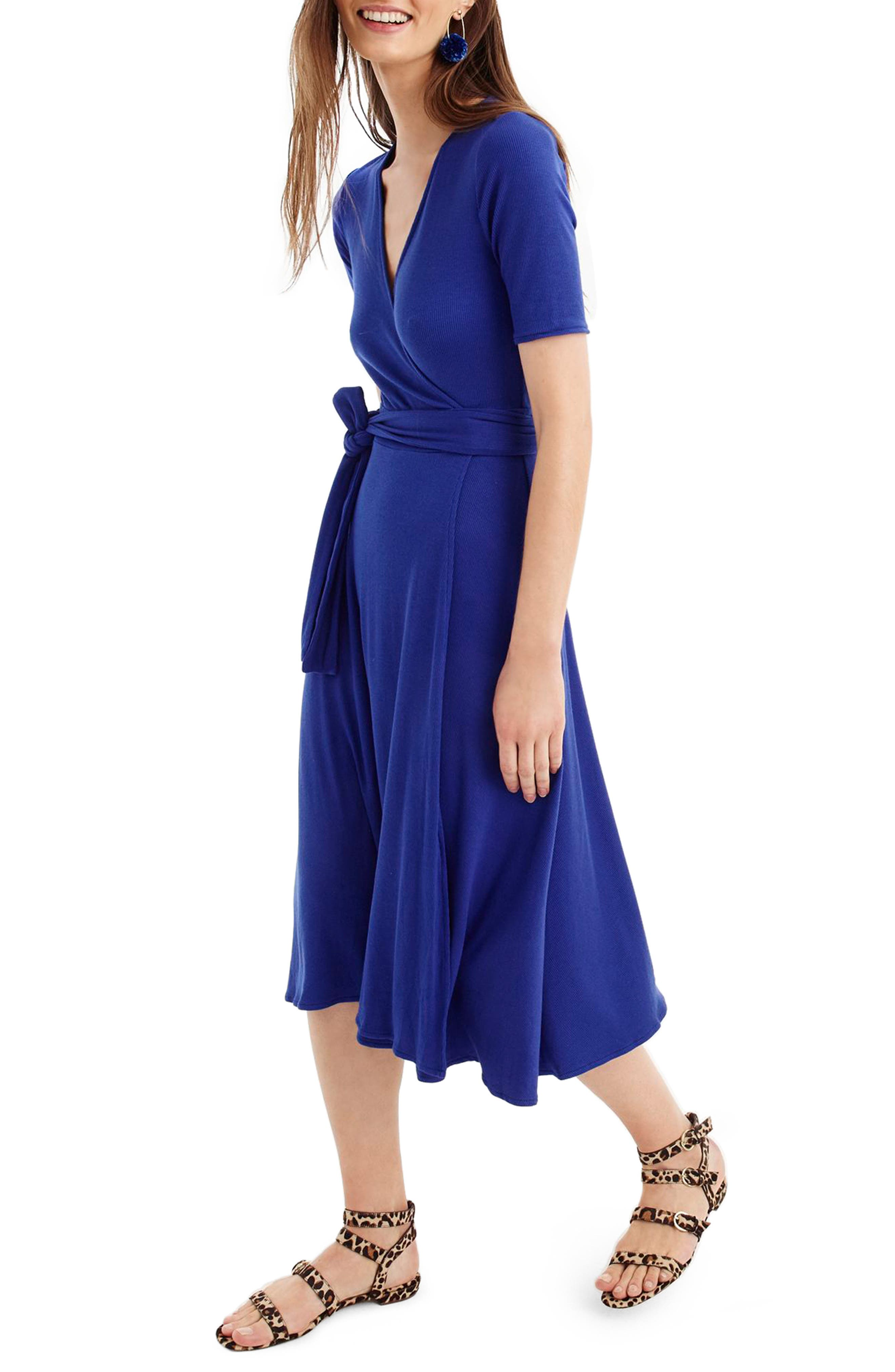 Knit Wrap Dress,                             Main thumbnail 3, color,
