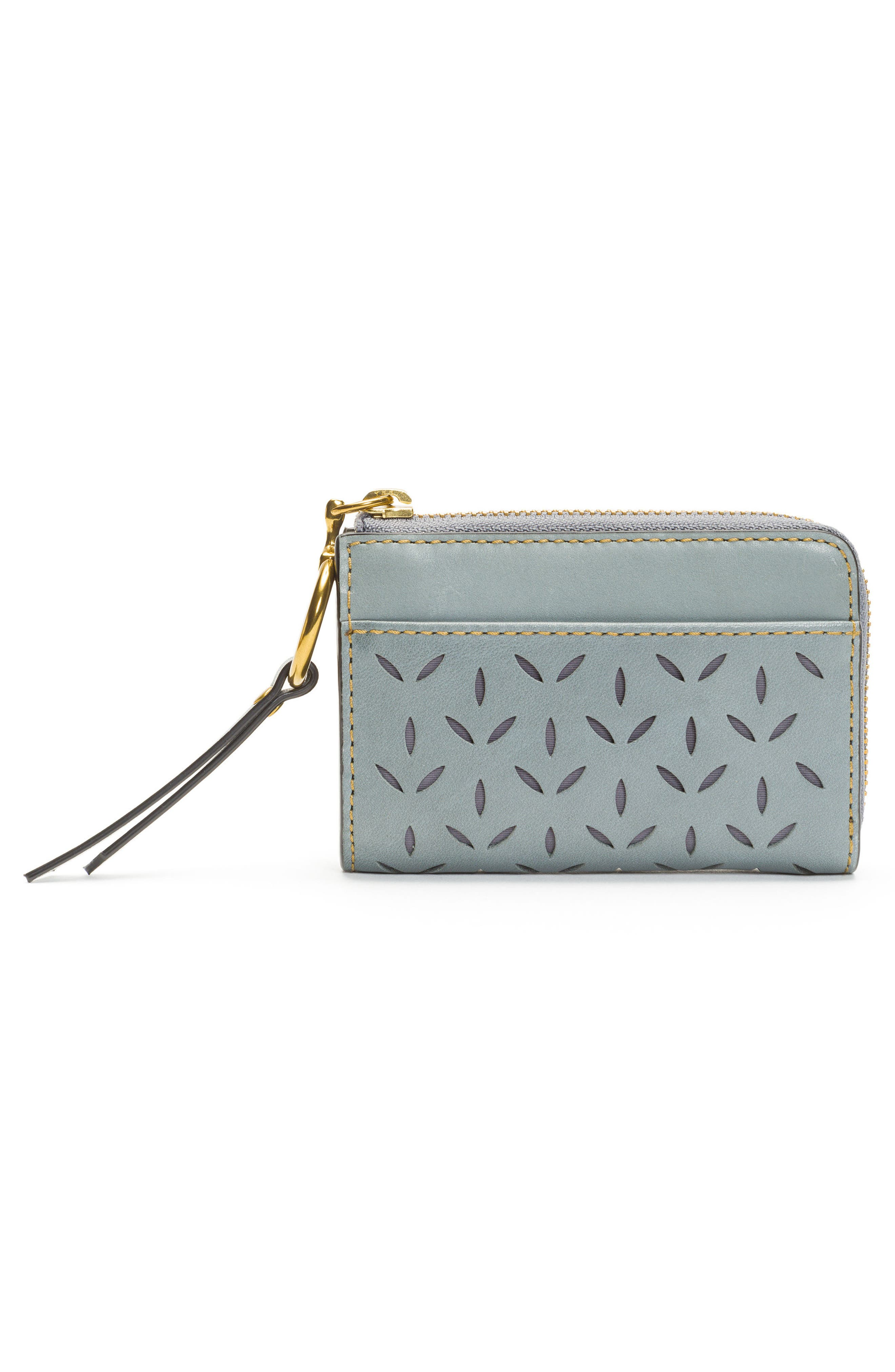 Ilana Small Perforated Leather Zip Wallet,                             Alternate thumbnail 10, color,