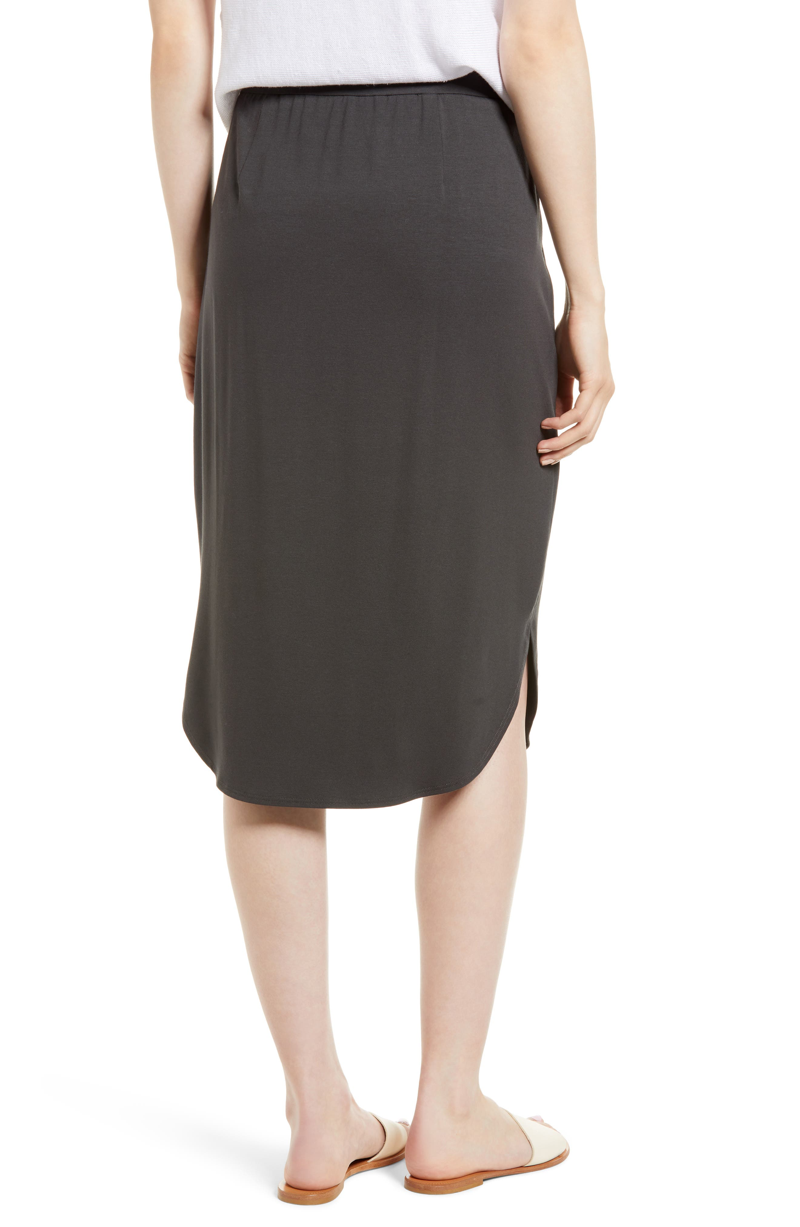 Jersey Shirttail Hem Skirt,                             Alternate thumbnail 2, color,                             025